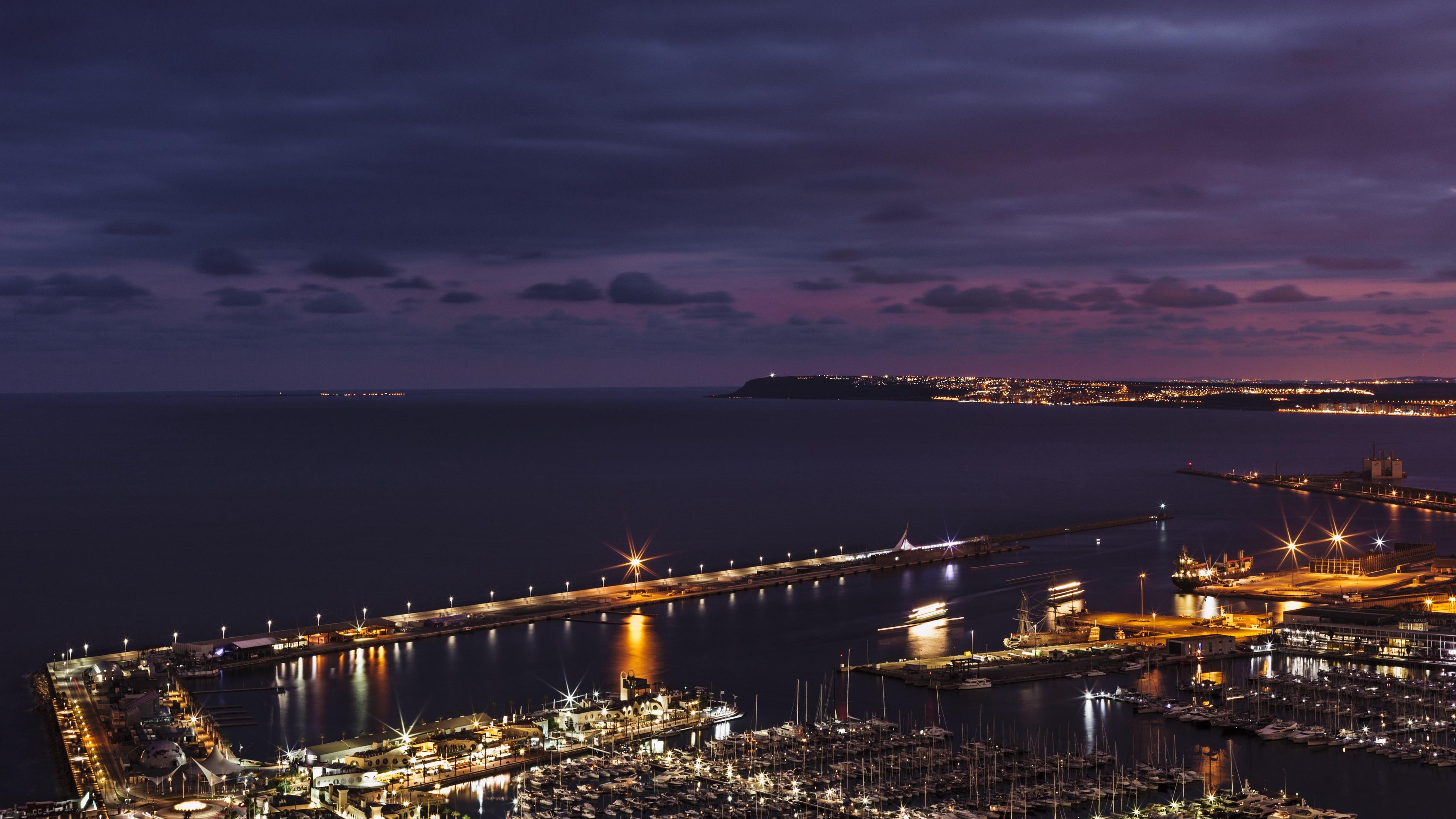 alicante spain sea night 4k 1538068106 - alicante, spain, sea, night 4k - Spain, Sea, alicante