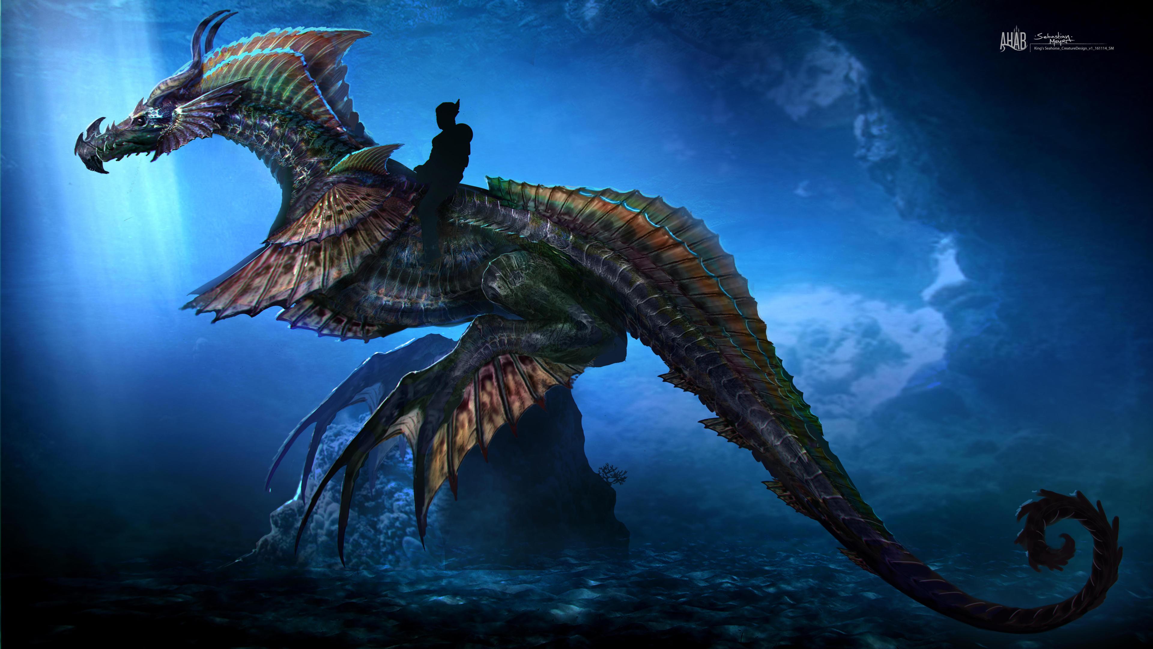 aquaman sea dragon concept art 10k 1536524166