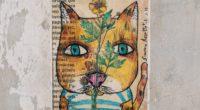 art cat drawing paper 4k 1536098396 200x110 - art, cat, drawing, paper 4k - drawing, Cat, art