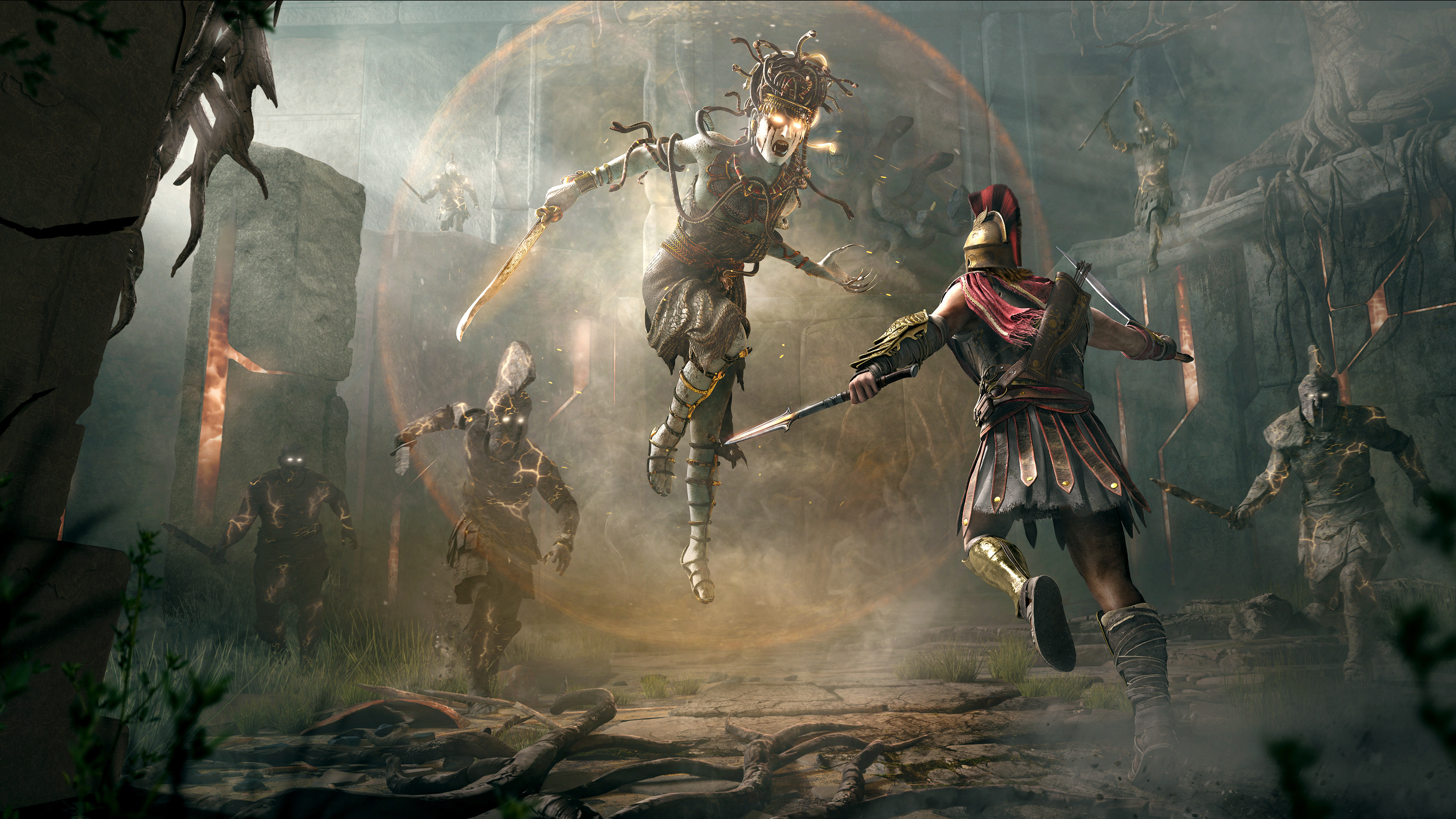 Wallpaper 4k Assassins Creed Odyssey Fight 4k 2018 Games