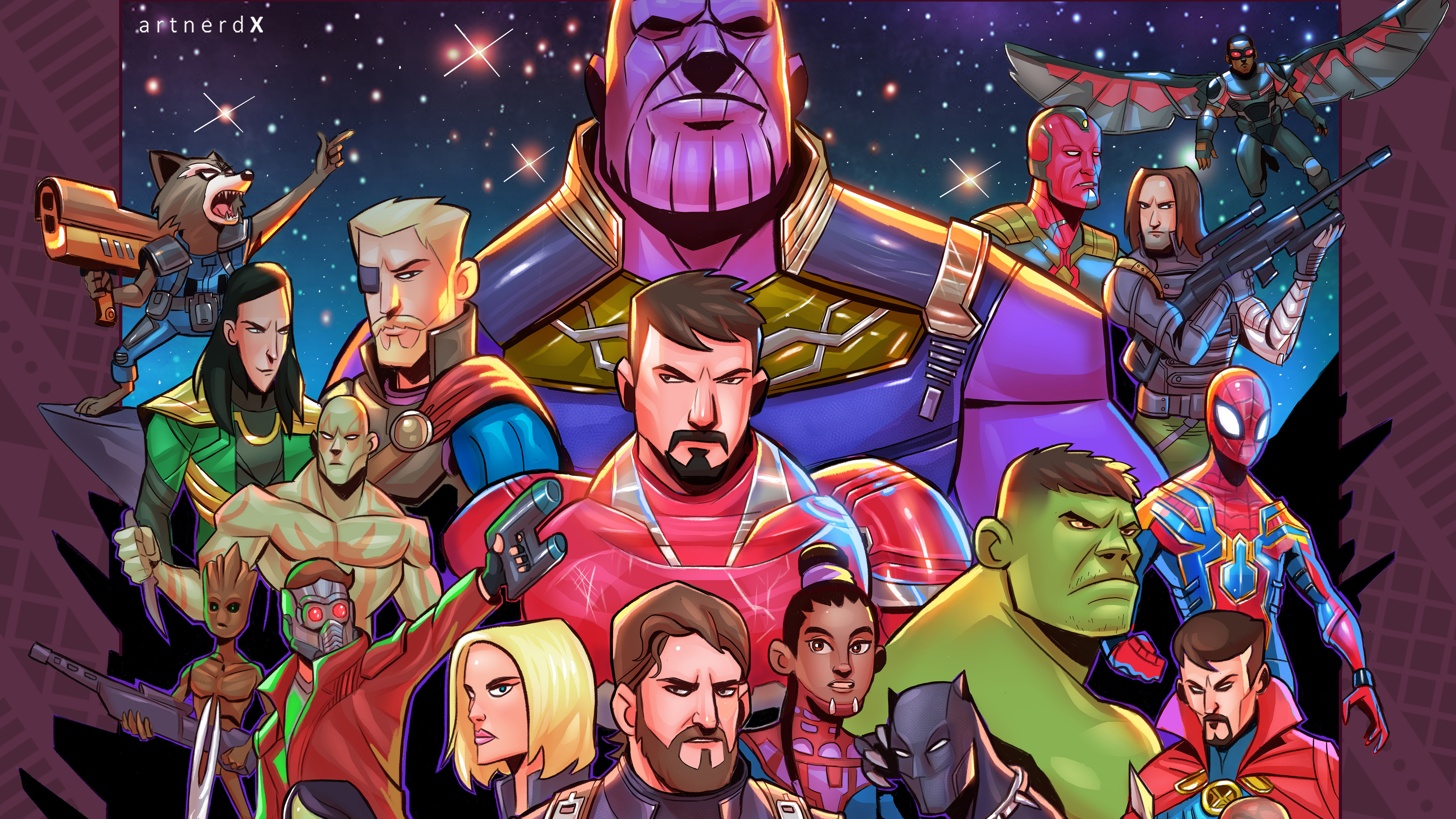 Wallpaper 4k Avengers Infinity War Superheroes Artwork 2018