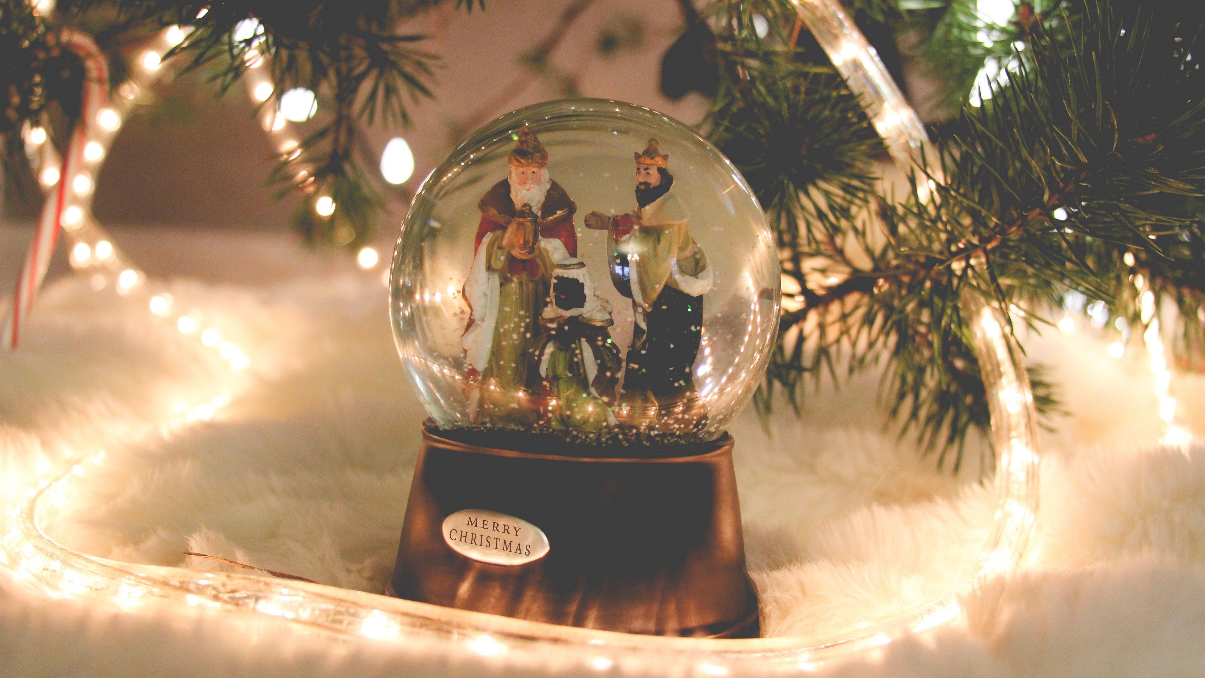 ball christmas new year santa claus 4k 1538345160 - ball, christmas, new year, santa claus 4k - new year, Christmas, Ball