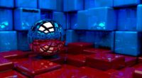 ball cubes metal blue red reflection 4k 1536854925 200x110 - ball, cubes, metal, blue, red, reflection 4k - Metal, Cubes, Ball