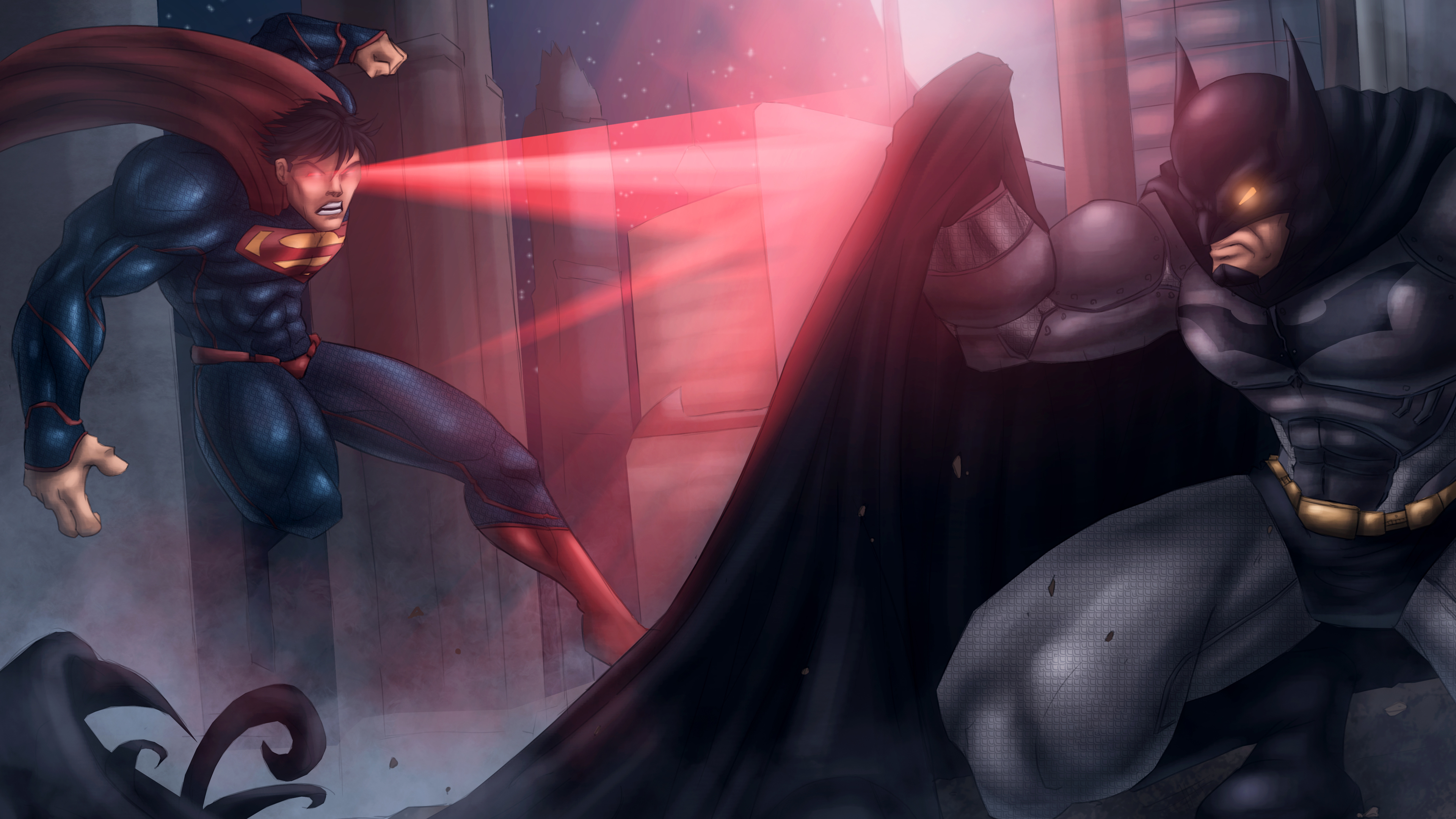 Wallpaper 4k Batman Vs Superman Artwork 5k 4k Wallpapers 5k
