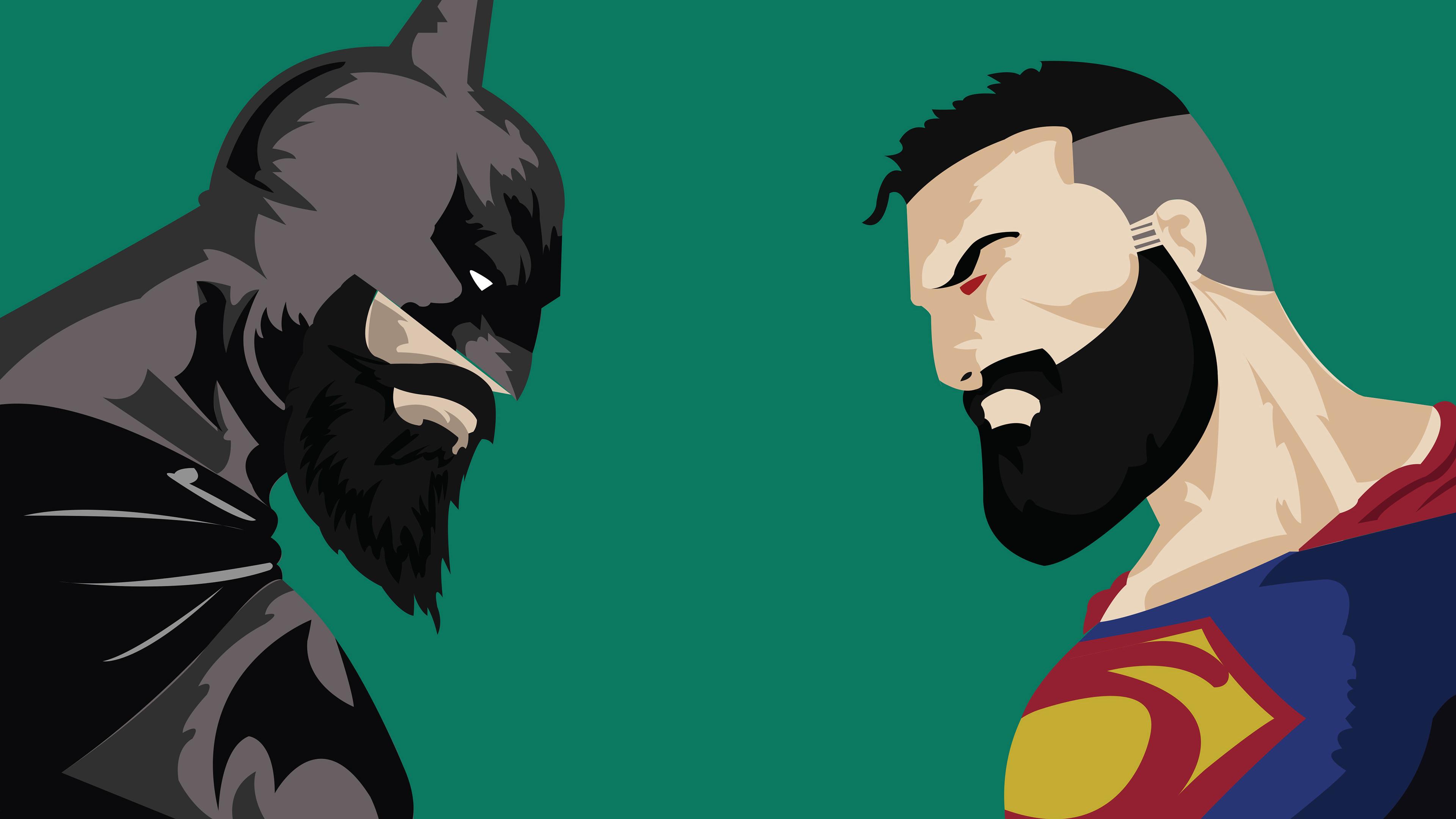 Batman Vs Superman With Beard