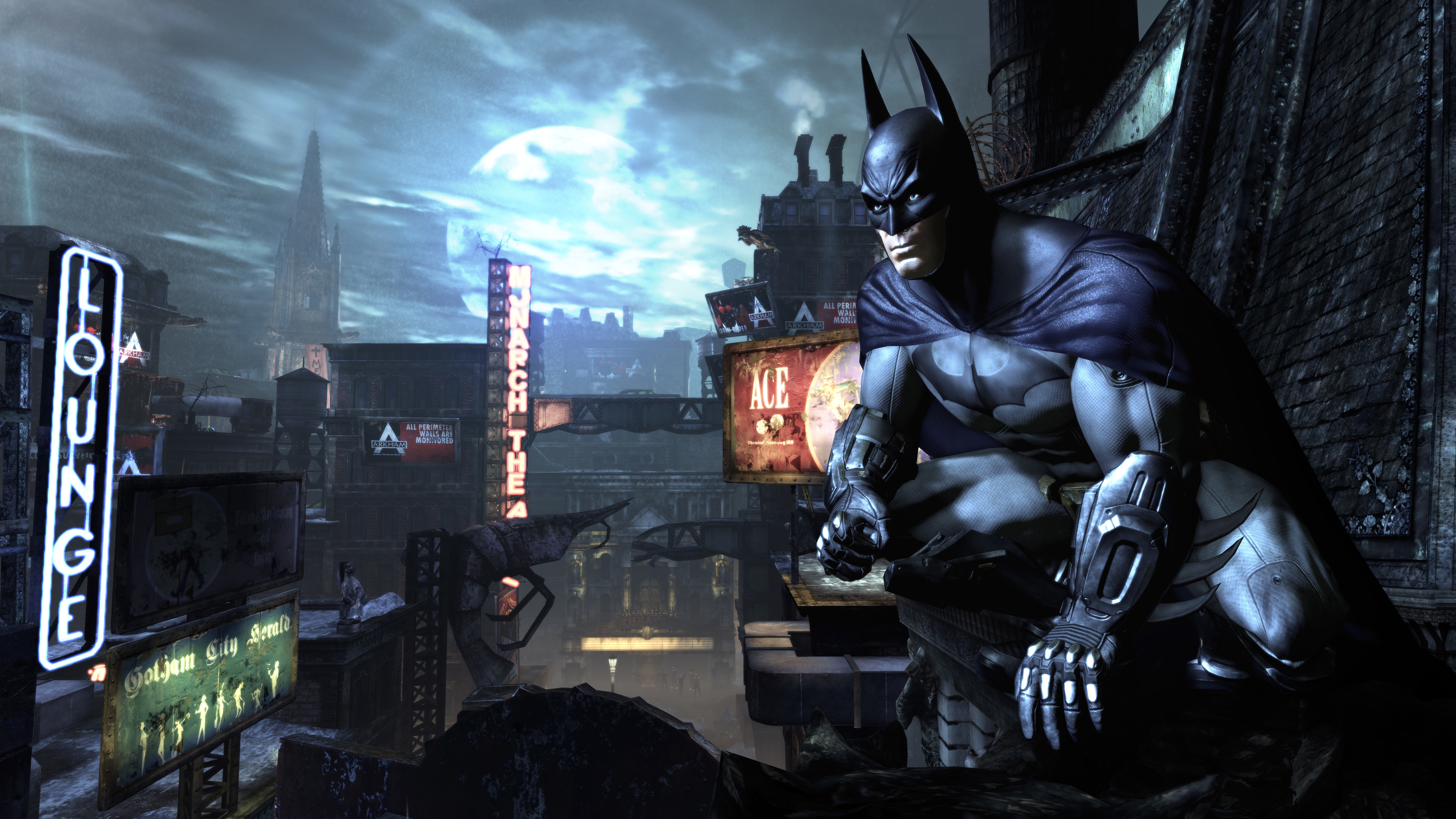 batman watching gotham city in the night 1536523936 - Batman Watching Gotham City In The Night - superheroes wallpapers, hd-wallpapers, digital art wallpapers, batman wallpapers, artwork wallpapers, 5k wallpapers, 4k-wallpapers