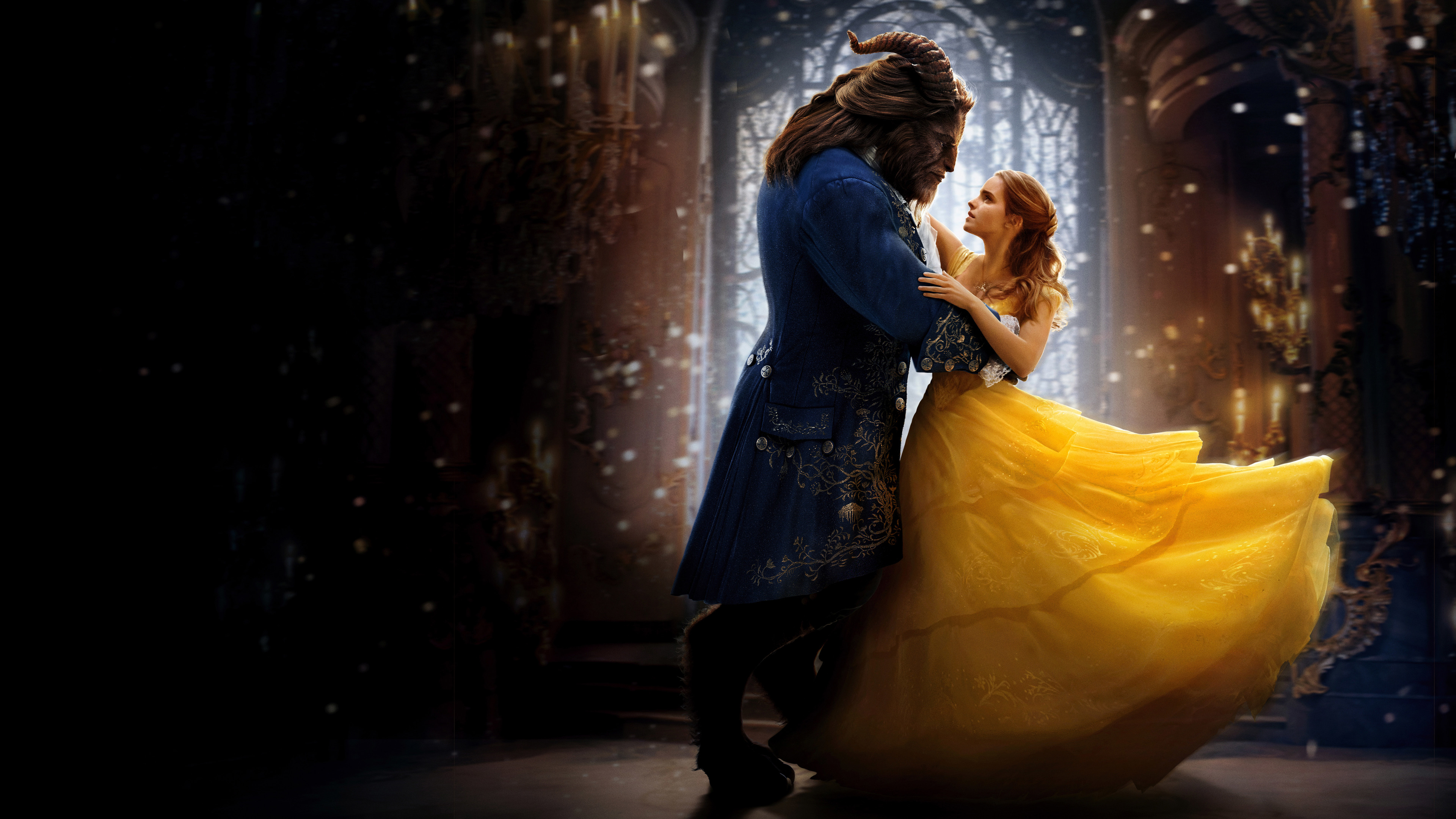 beauty and the beast wallpaper 4k