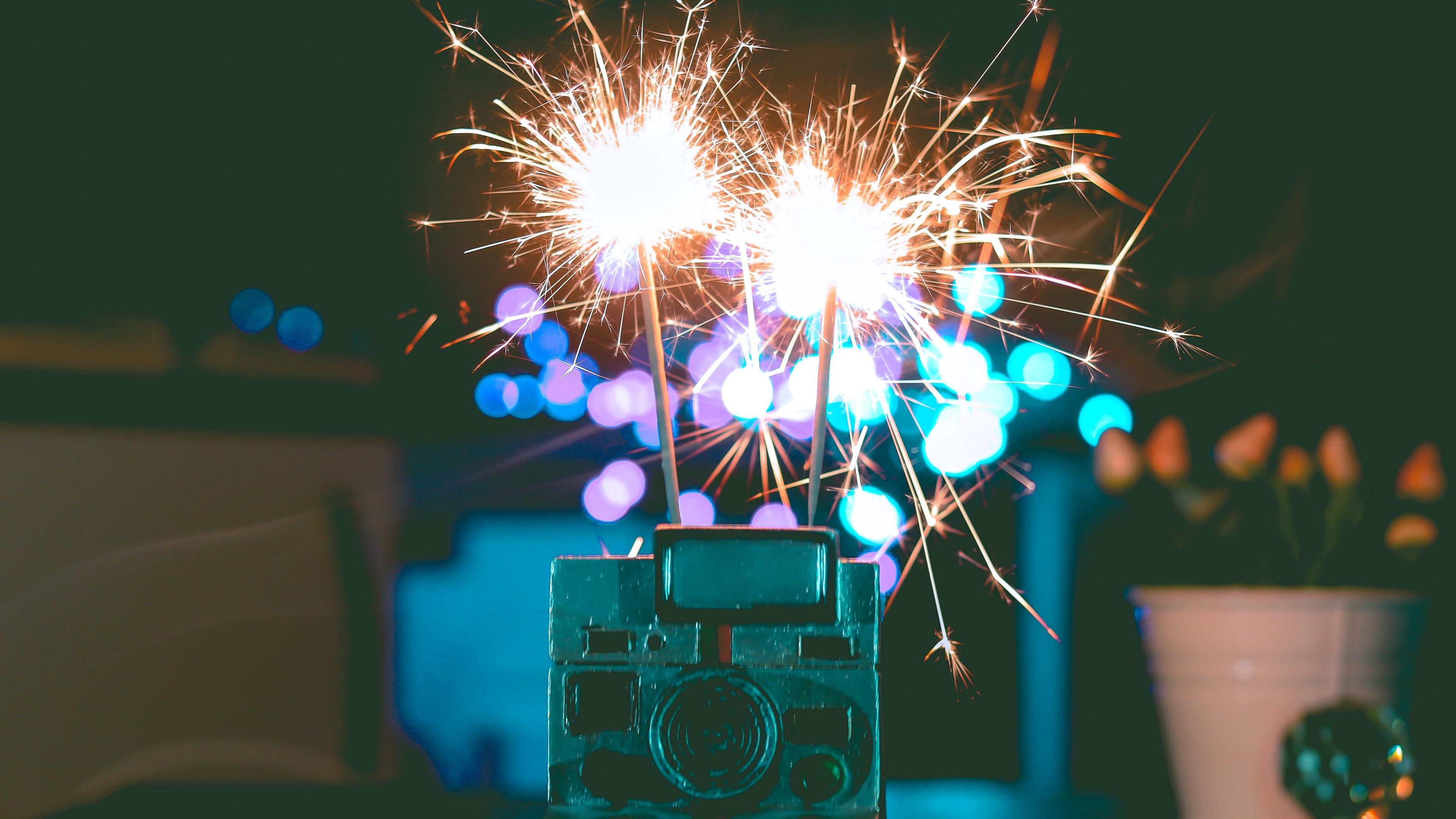bengal fire polaroid sparks glare 4k 1538344978 - bengal fire, polaroid, sparks, glare 4k - Sparks, polaroid, bengal fire