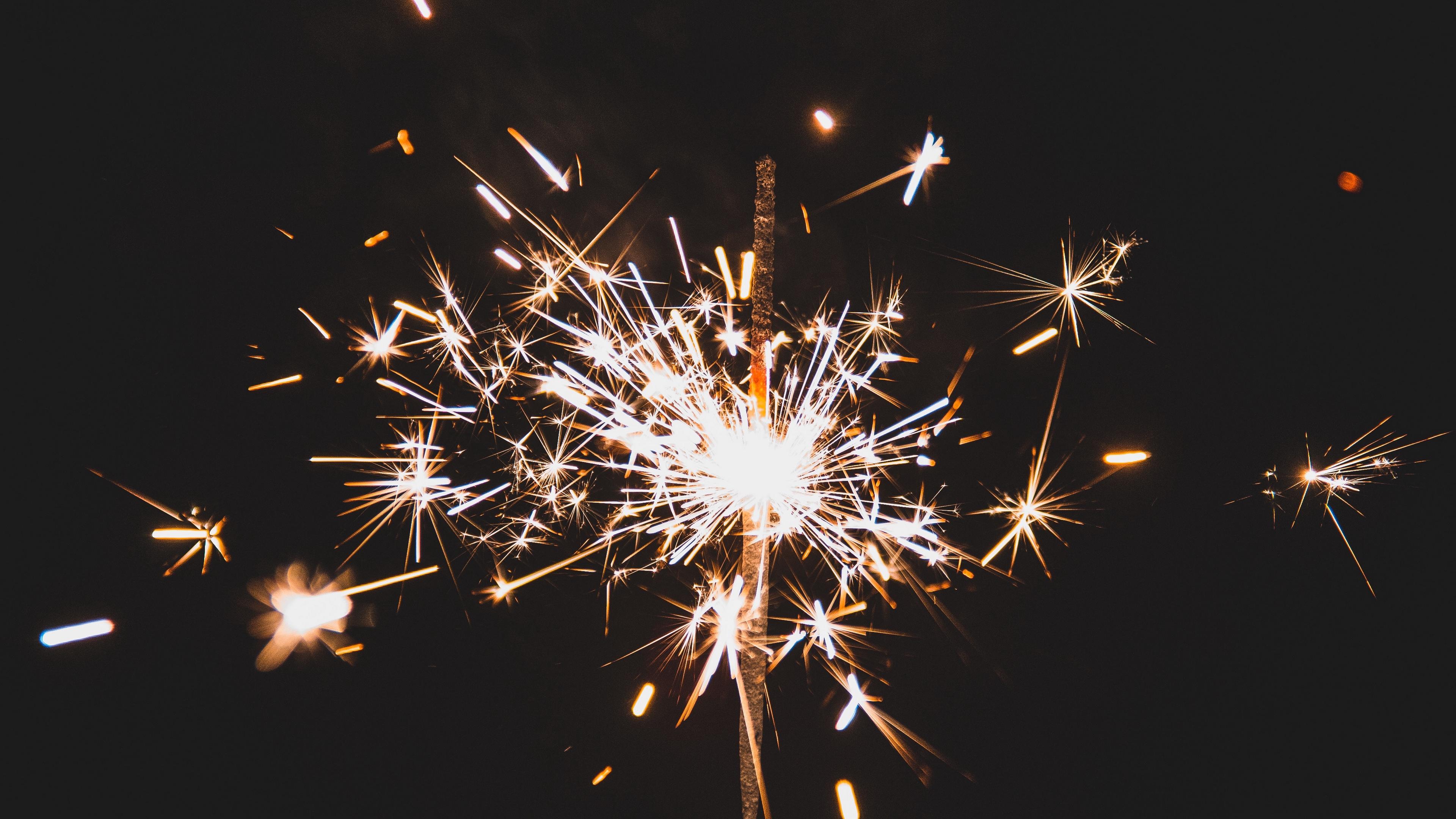 bengal fire sparkler holiday sparks dark background 4k 1538345131 - bengal fire, sparkler, holiday, sparks, dark background 4k - sparkler, Holiday, bengal fire