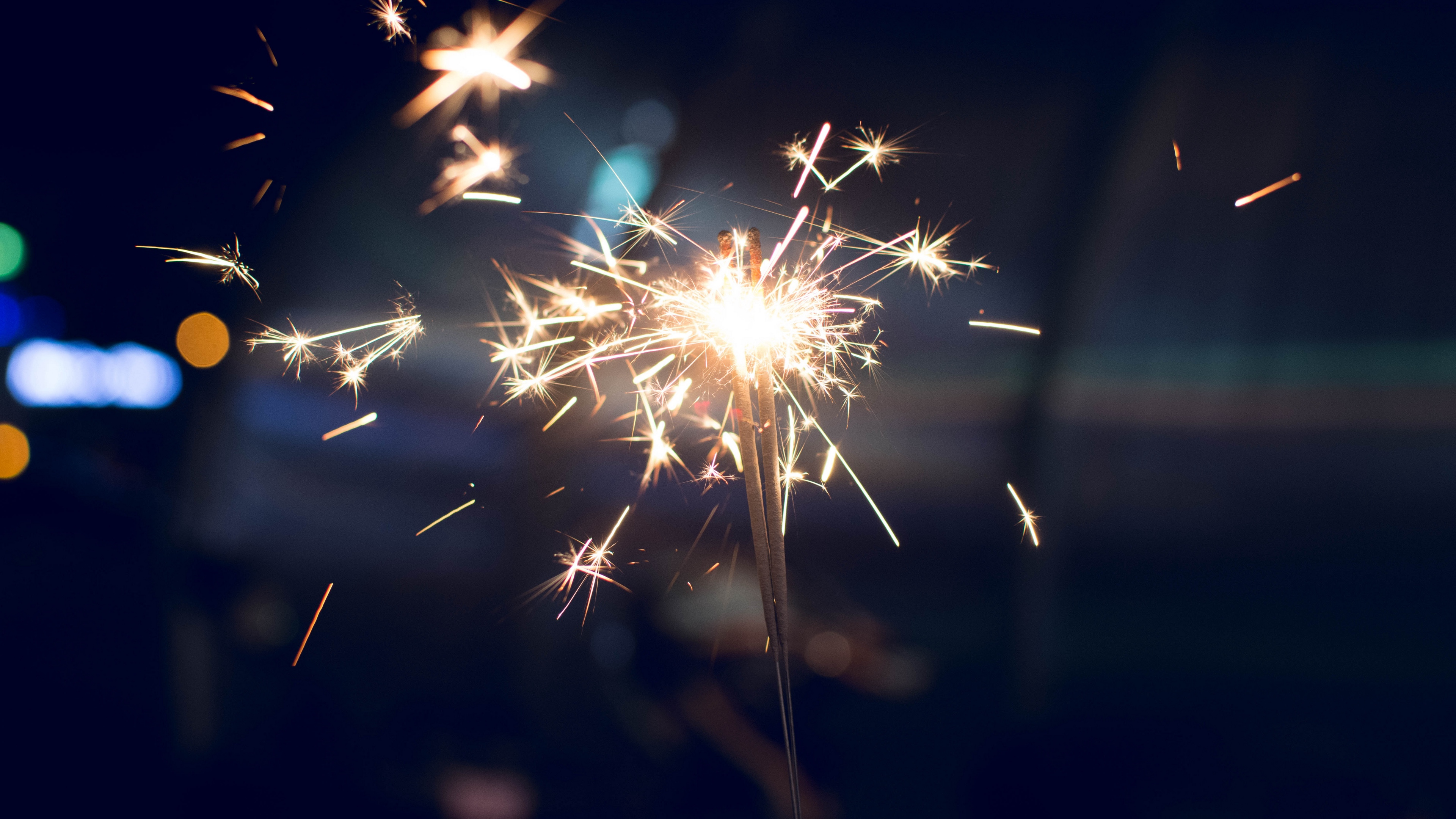 bengal fire sparks glitter blur dark background 4k 1538345083 - bengal fire, sparks, glitter, blur, dark background 4k - Sparks, Glitter, bengal fire