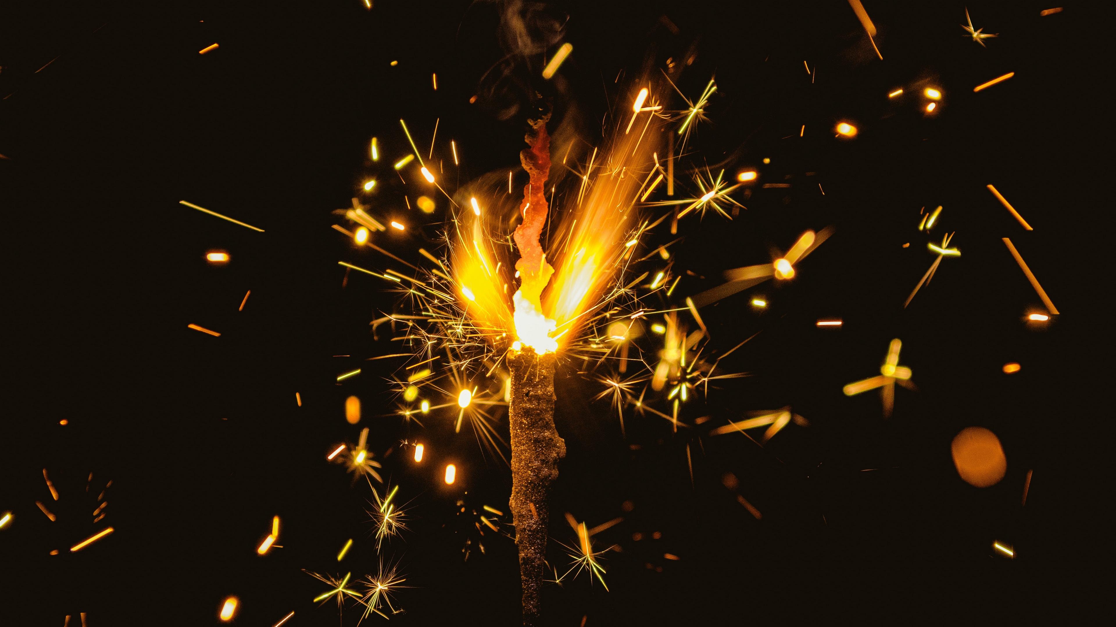 bengal fire sparks glitter dark background 4k 1538345073 - bengal fire, sparks, glitter, dark background 4k - Sparks, Glitter, bengal fire