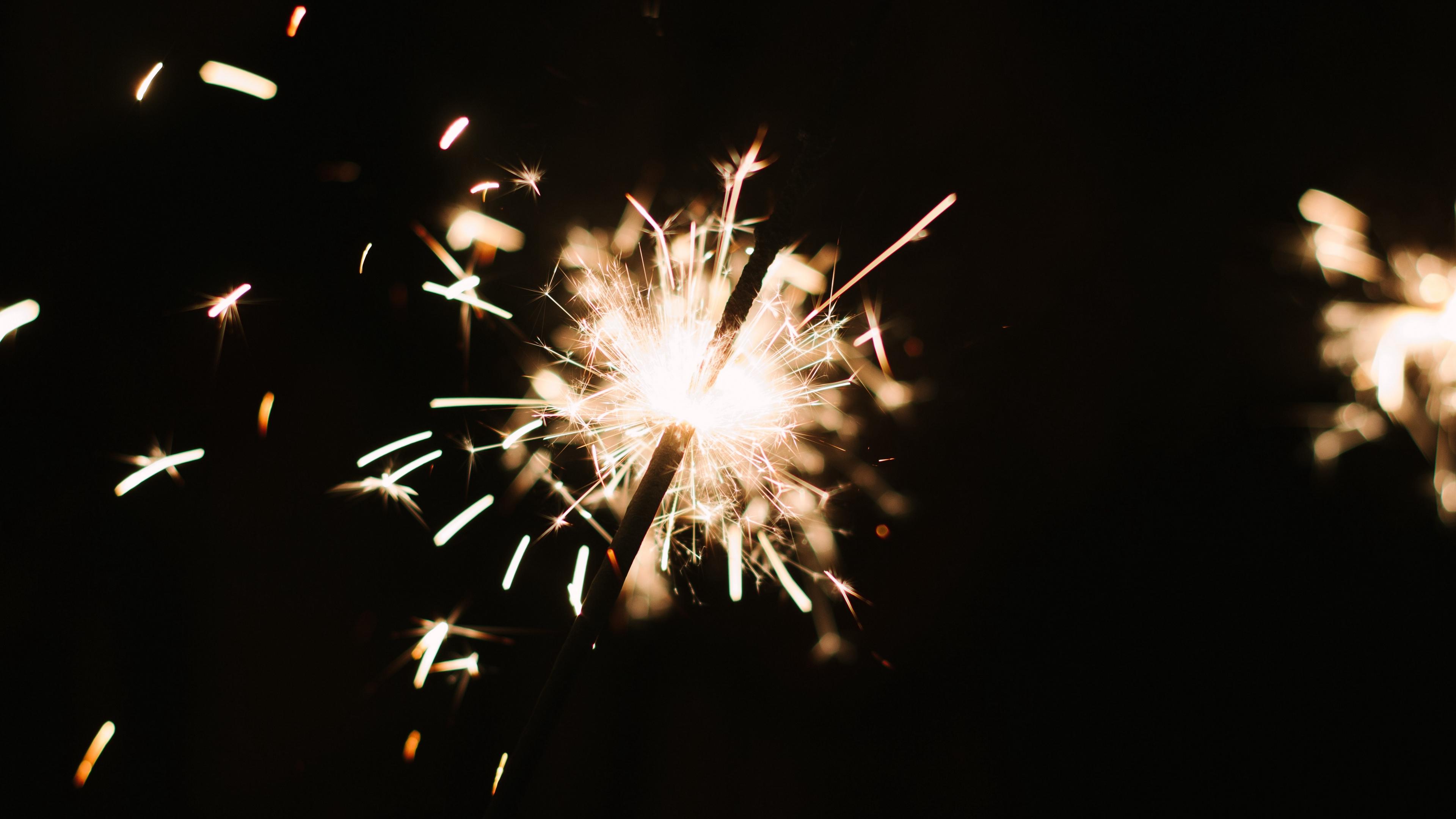 bengal fire sparks holiday dark background 4k 1538344747 - bengal fire, sparks, holiday, dark background 4k - Sparks, Holiday, bengal fire