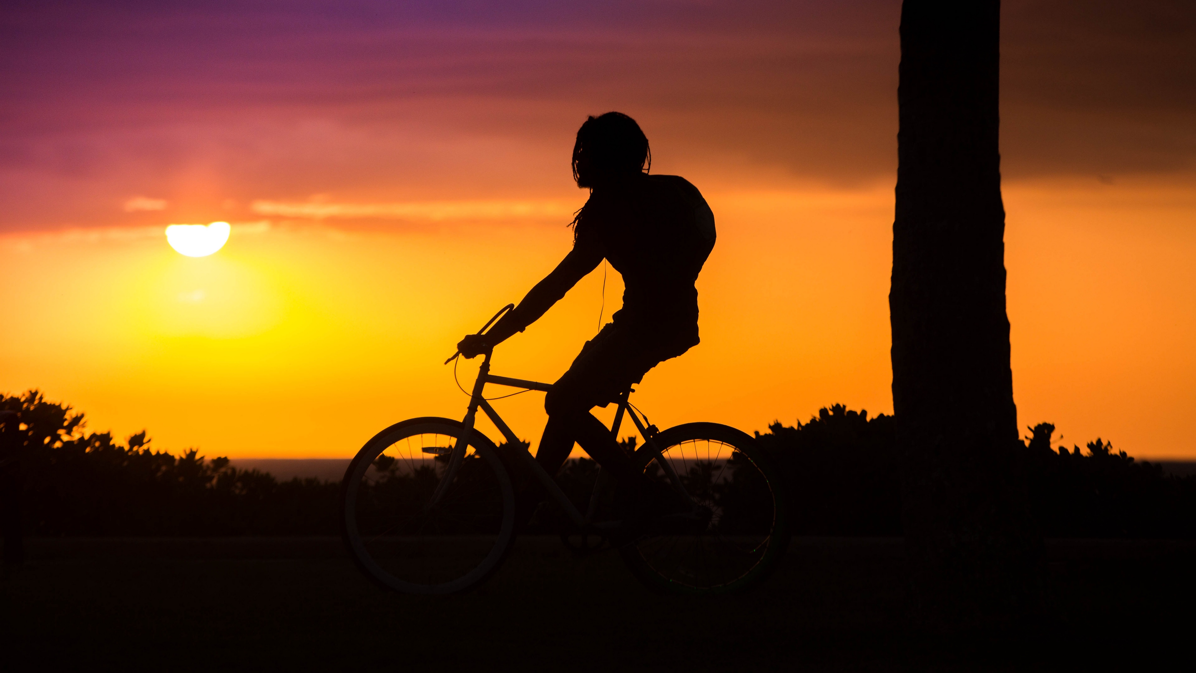 bicyclist cyclist silhouette sunset bicycle 4k 1536017765 - bicyclist, cyclist, silhouette, sunset, bicycle 4k - Silhouette, cyclist, bicyclist