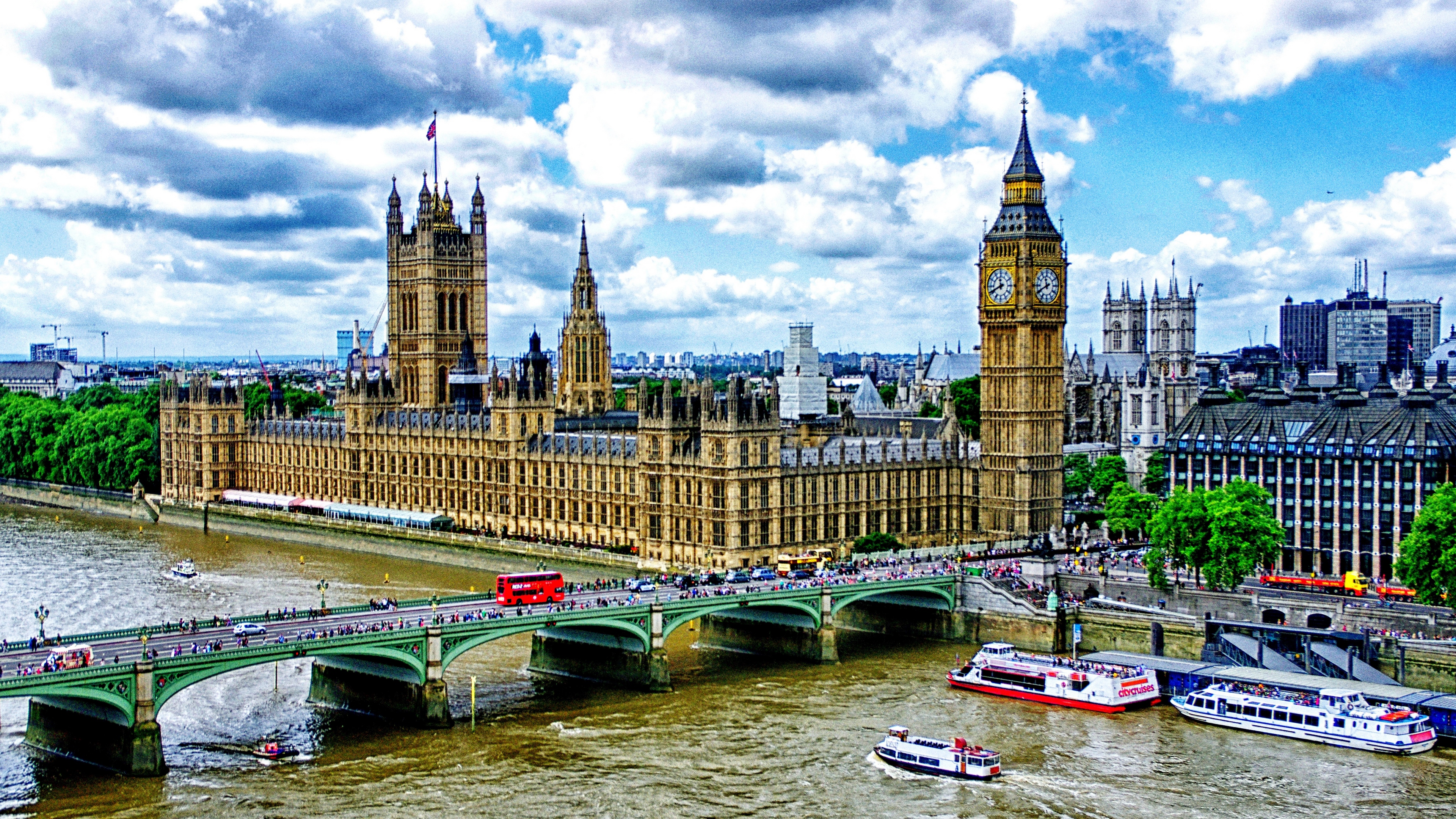 big ben london palace of westminster bridge river thames boats hdr 4k 1538066721 - big ben, london, palace of westminster, bridge, river, thames, boats, hdr 4k - palace of westminster, London, big ben
