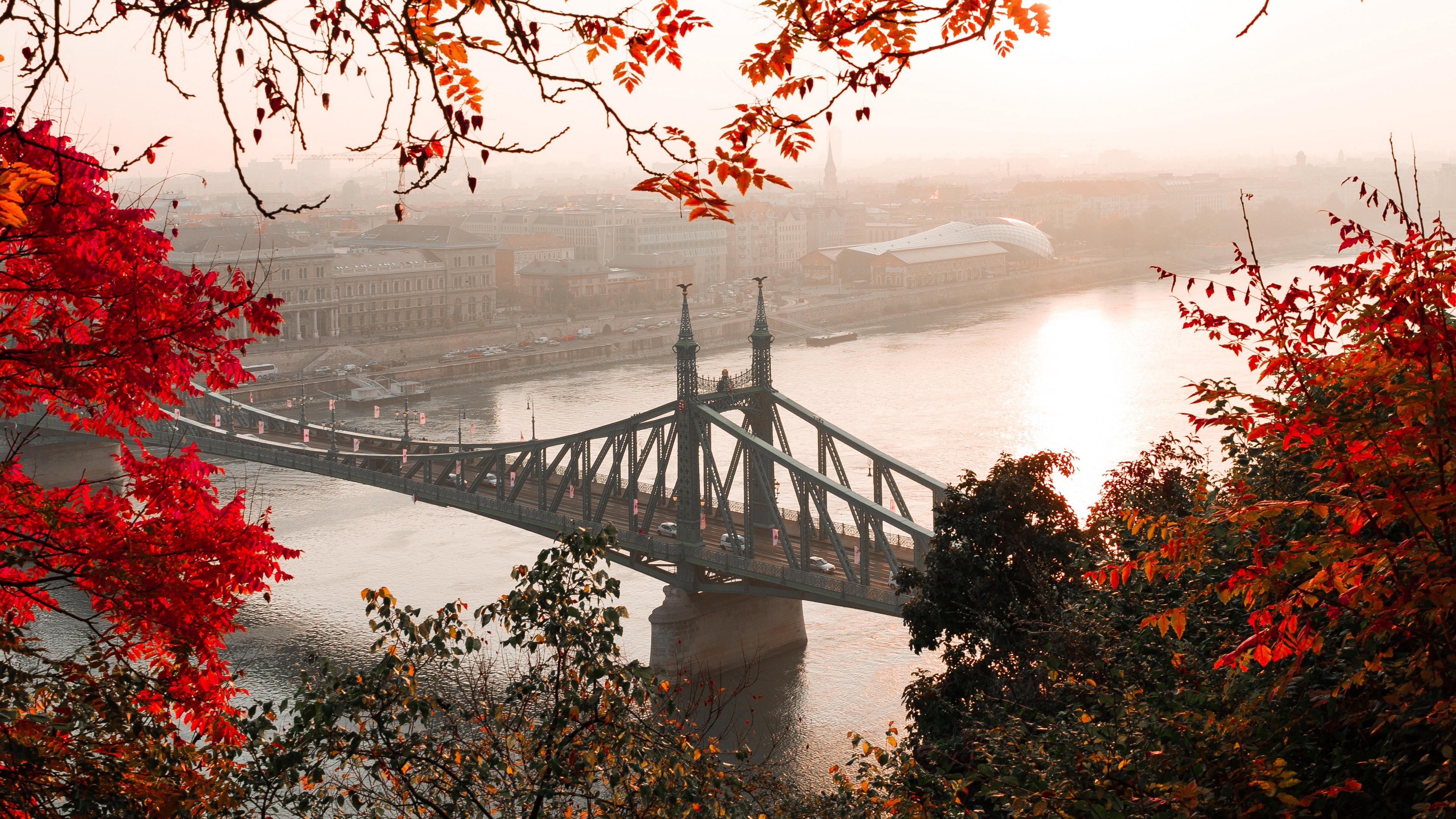 bridge autumn city citadella budapest hungary 4k 1538068184 - bridge, autumn, city, citadella, budapest, hungary 4k - City, bridge, Autumn