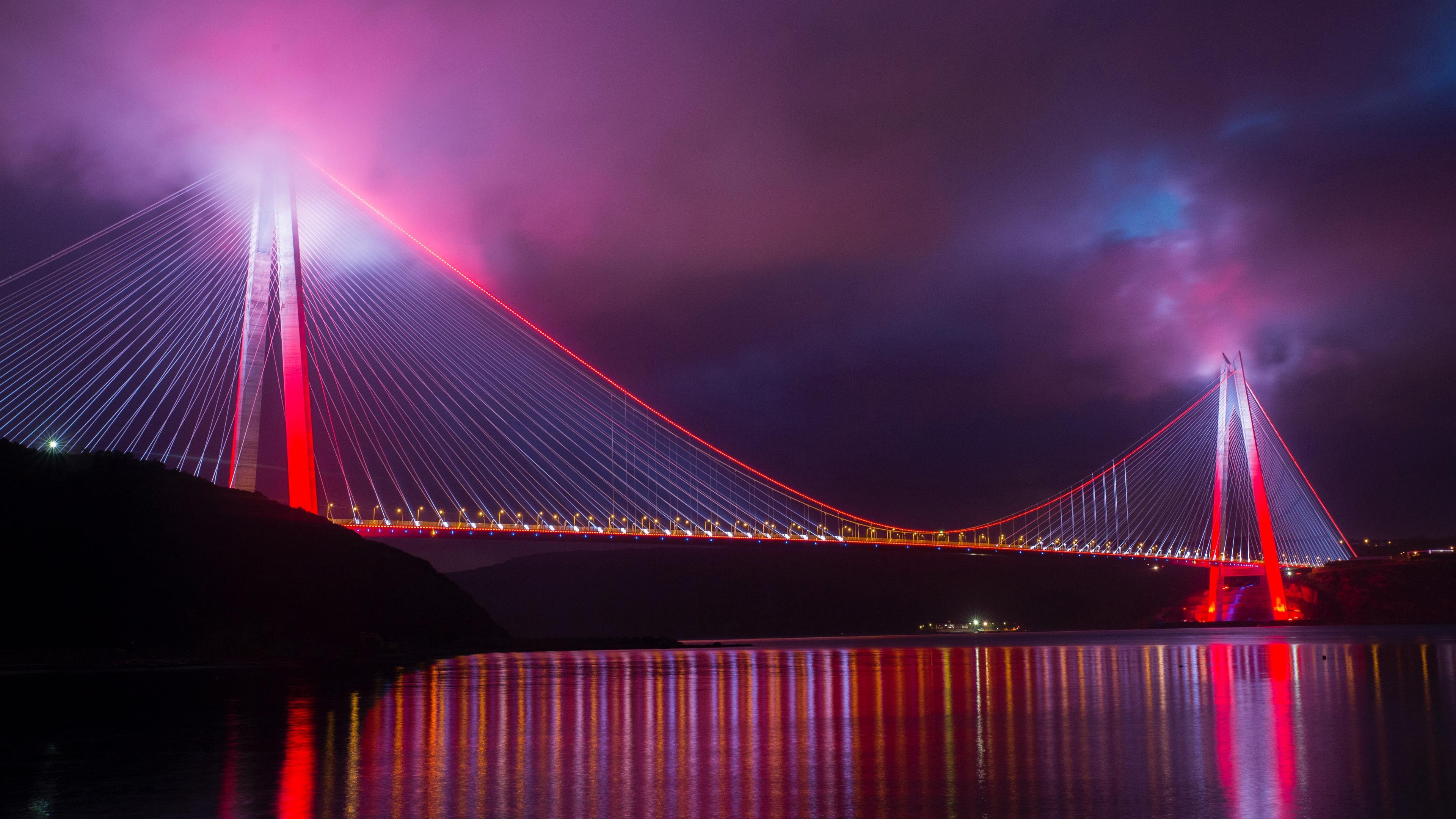 bridge night city lighting design turkey 4k 1538068763 - bridge, night city, lighting, design, turkey 4k - night city, Lighting, bridge