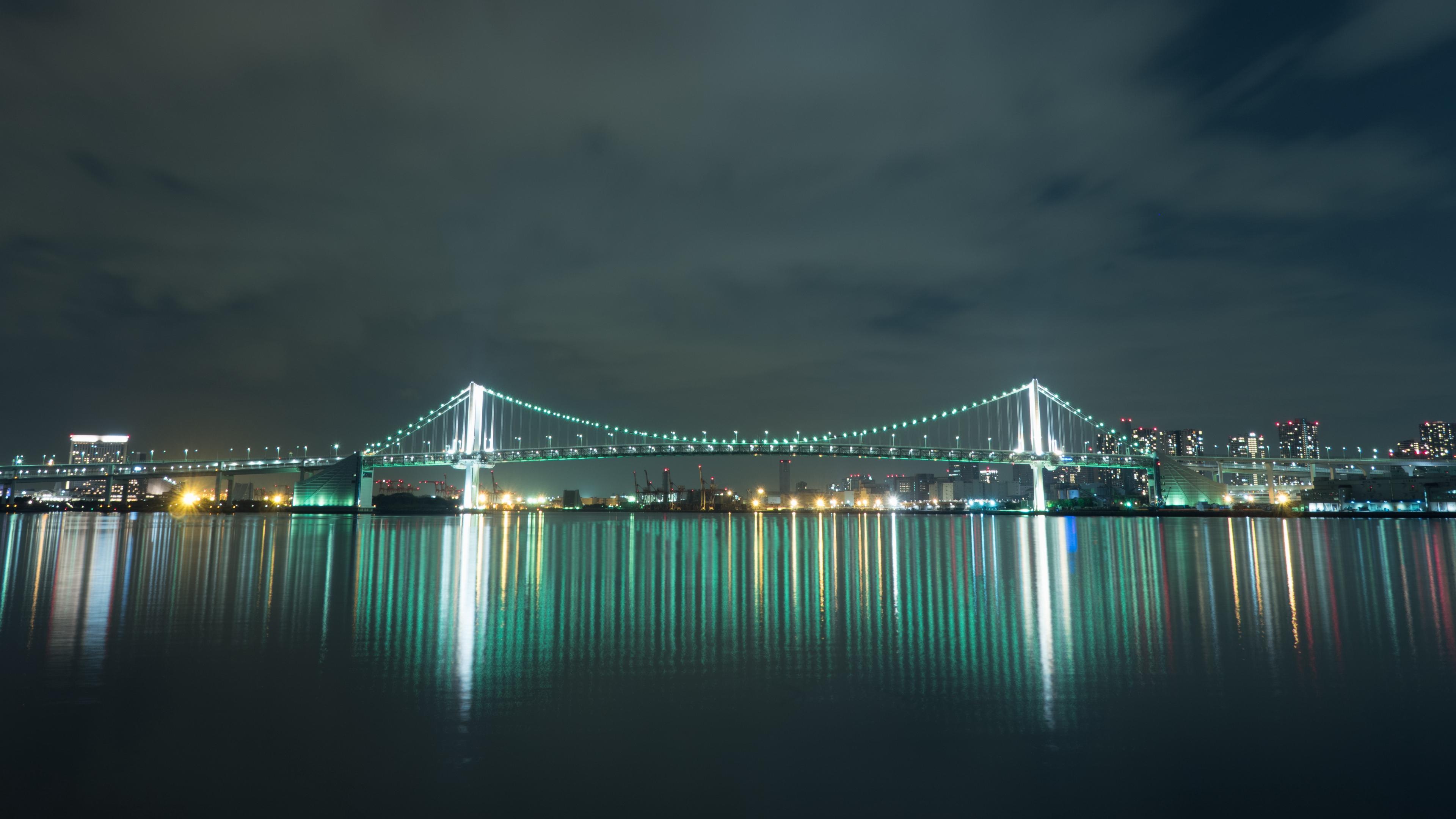 bridge night city lighting tokyo japan 4k 1538068094 - bridge, night city, lighting, tokyo, japan 4k - night city, Lighting, bridge