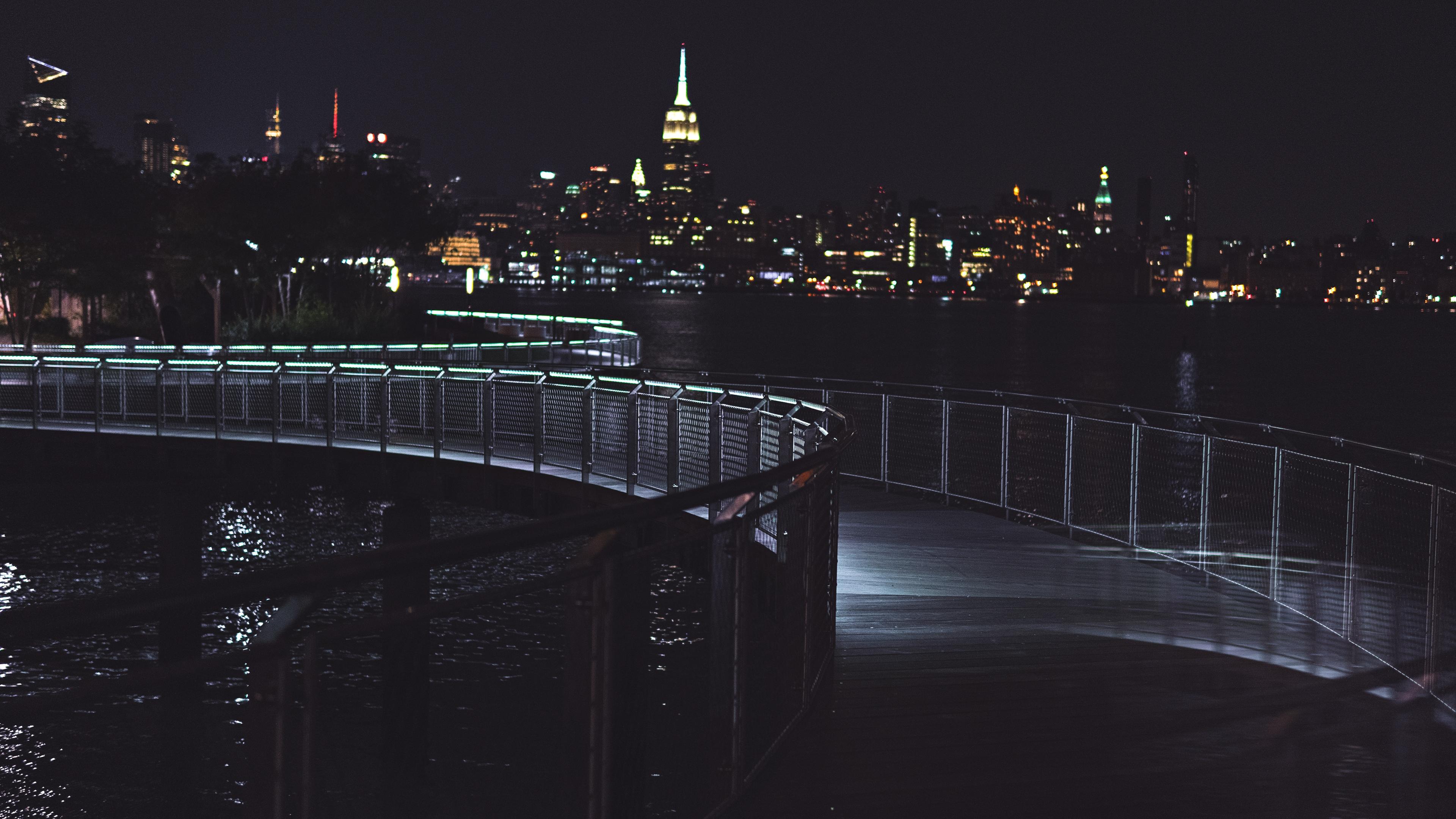 bridge night city night 4k 1538065295 - bridge, night city, night 4k - night city, Night, bridge