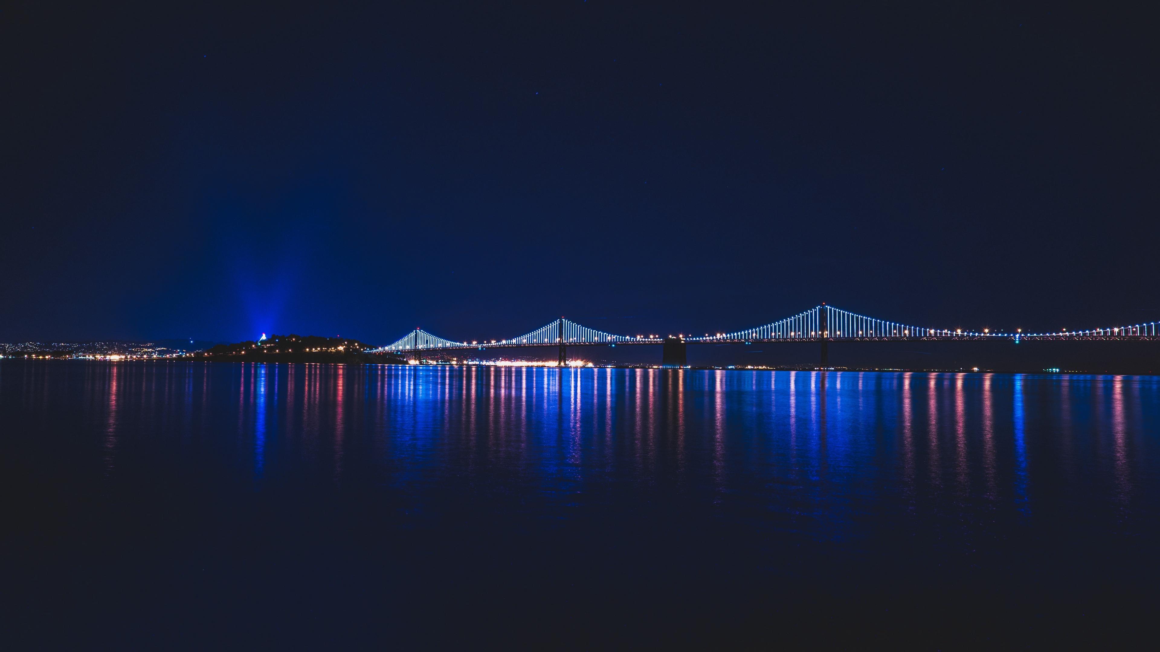 bridge night city river 4k 1538065480 - bridge, night, city, river 4k - Night, City, bridge