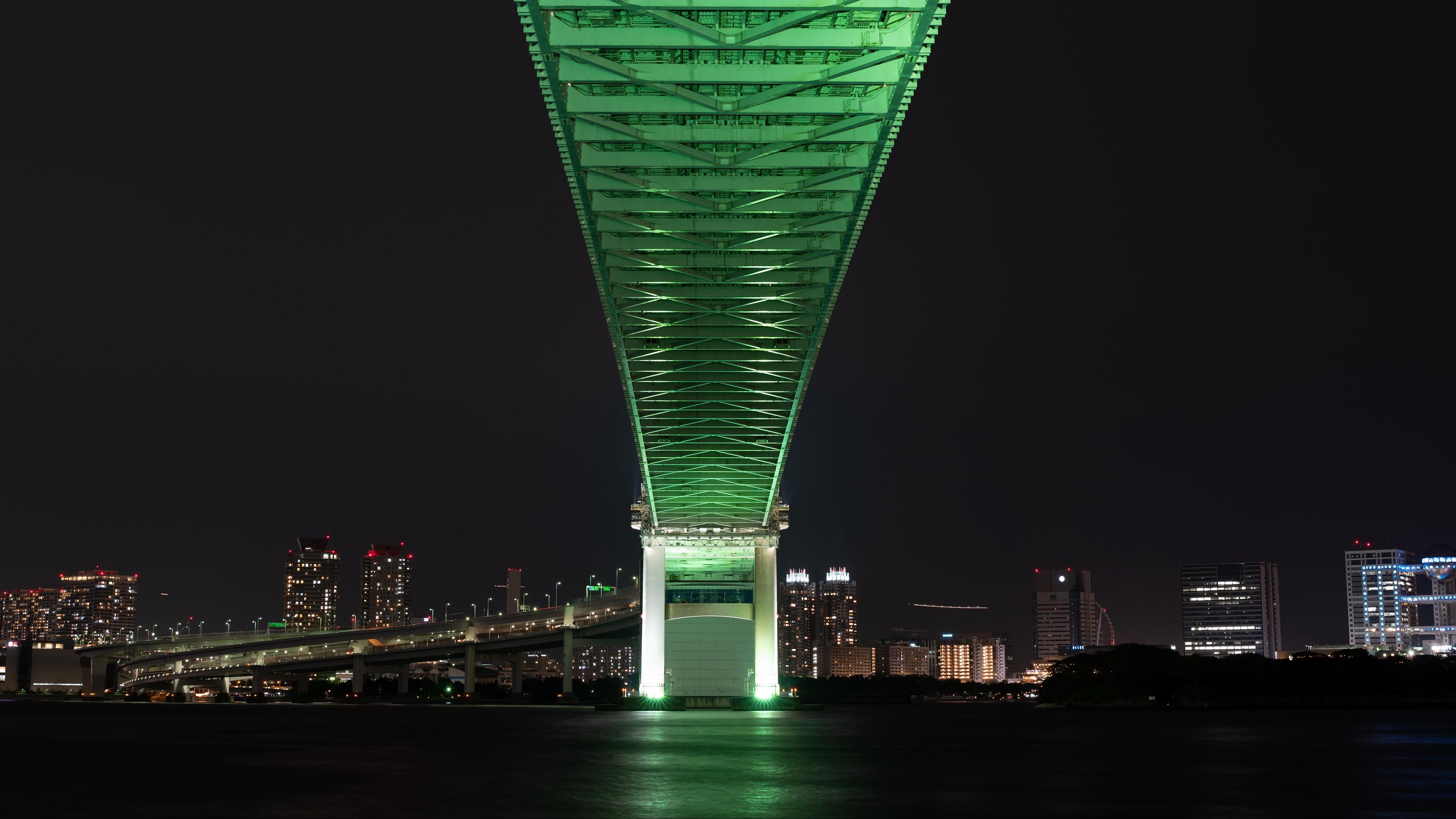 bridge night city tokyo japan 4k 1538066635 - bridge, night city, tokyo, japan 4k - Tokyo, night city, bridge