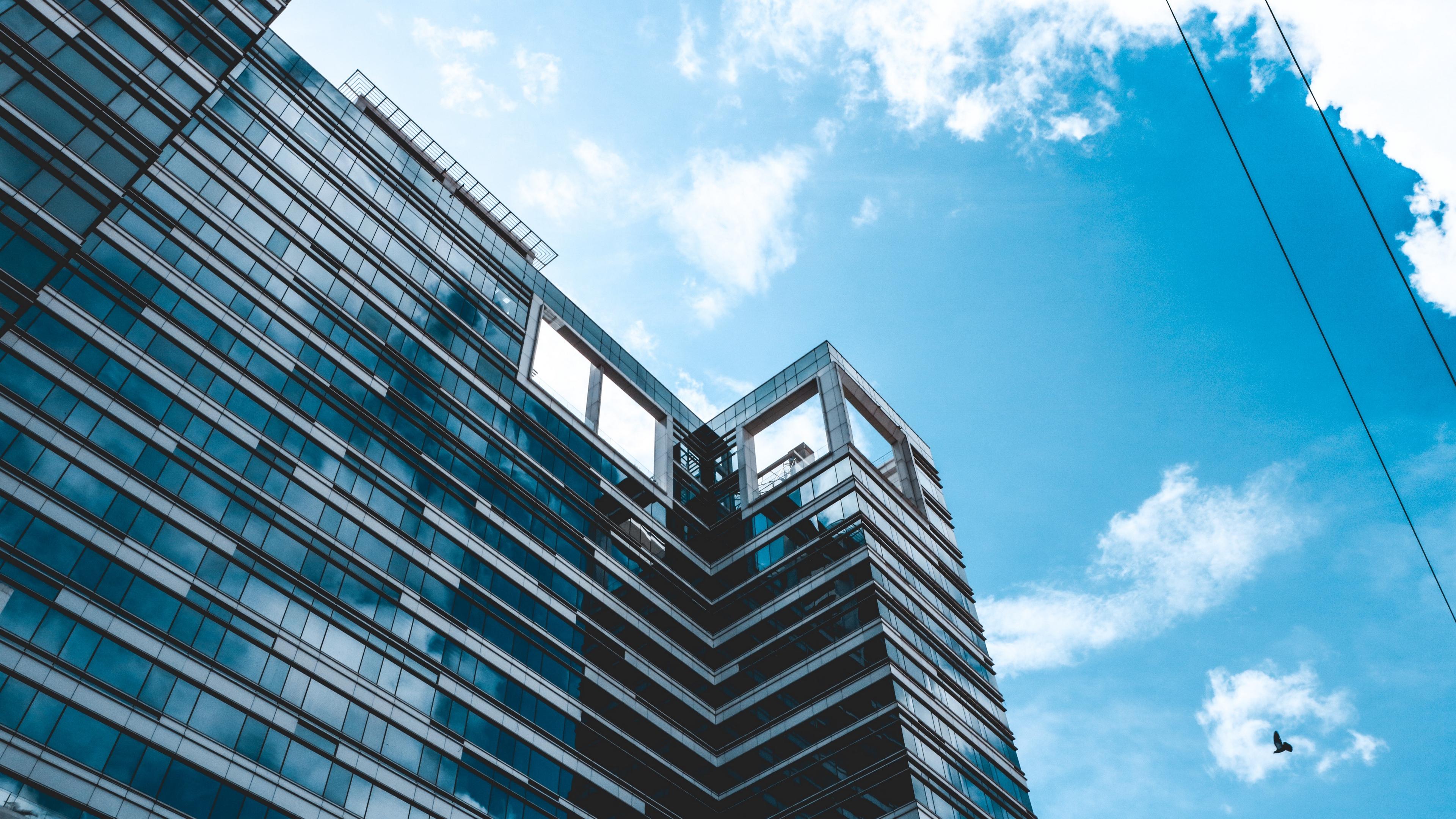 building facade architecture skyscraper glass 4k 1538066590 - building, facade, architecture, skyscraper, glass 4k - facade, Building, Architecture