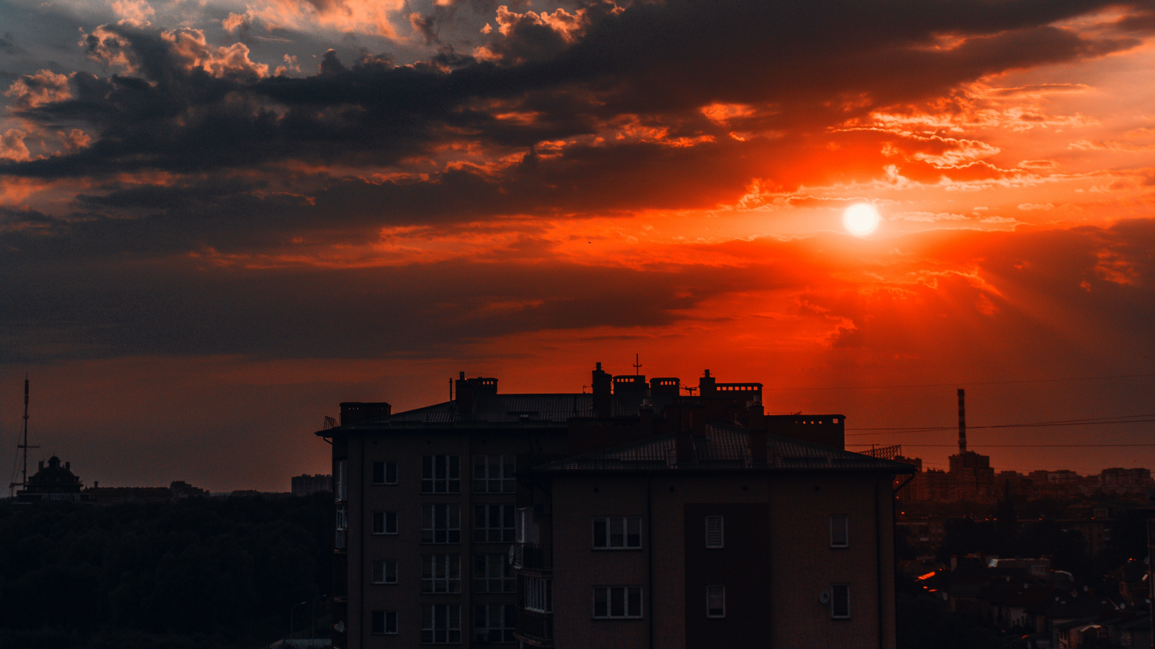 building sunset sky clouds architecture 4k 1538066680 - building, sunset, sky, clouds, architecture 4k - sunset, Sky, Building