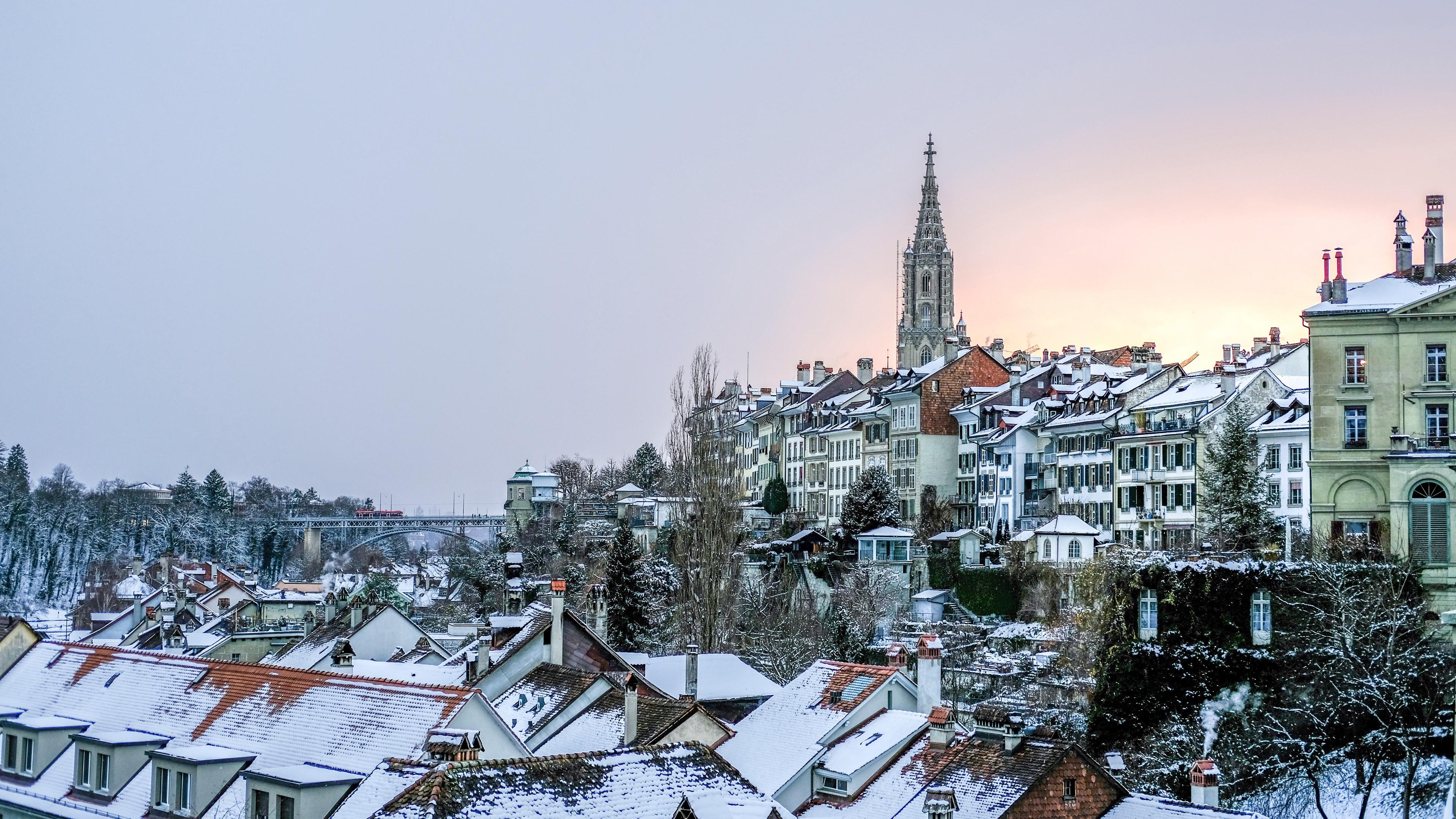 buildings roofs winter snow 4k 1538068699 - buildings, roofs, winter, snow 4k - Winter, roofs, buildings
