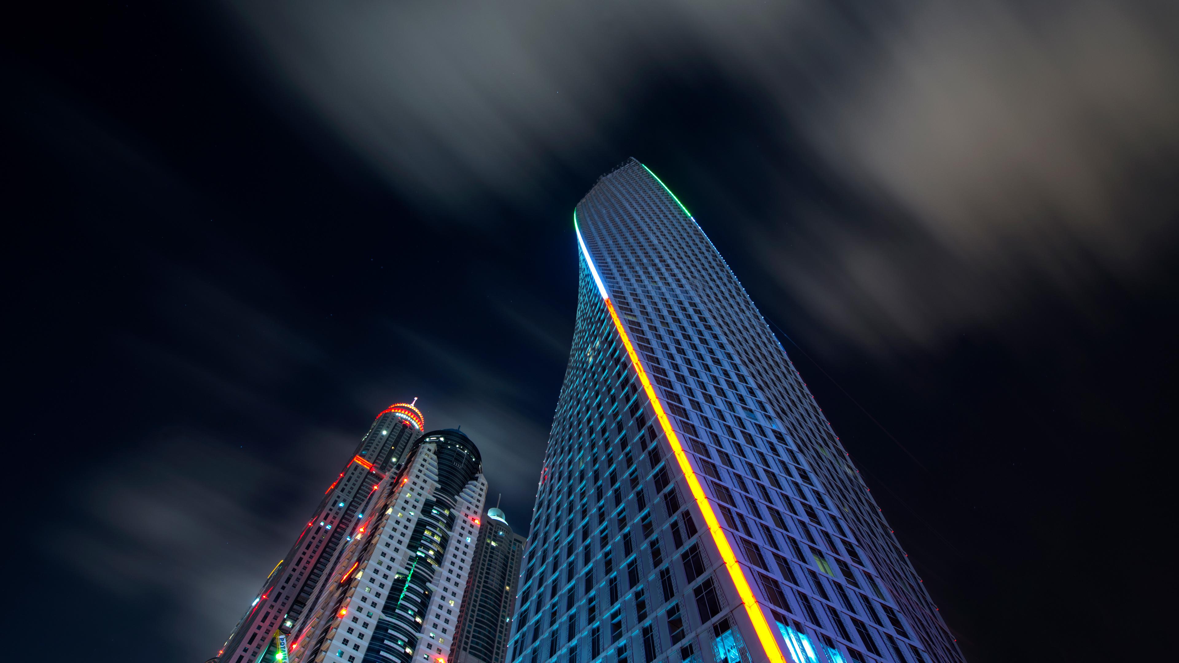 buildings skyscraper dubai nights 8k 1538070304 - Buildings Skyscraper Dubai Nights 8k - world wallpapers, skycrapper wallpapers, night wallpapers, hd-wallpapers, dubai wallpapers, buildings wallpapers, 8k wallpapers, 5k wallpapers, 4k-wallpapers