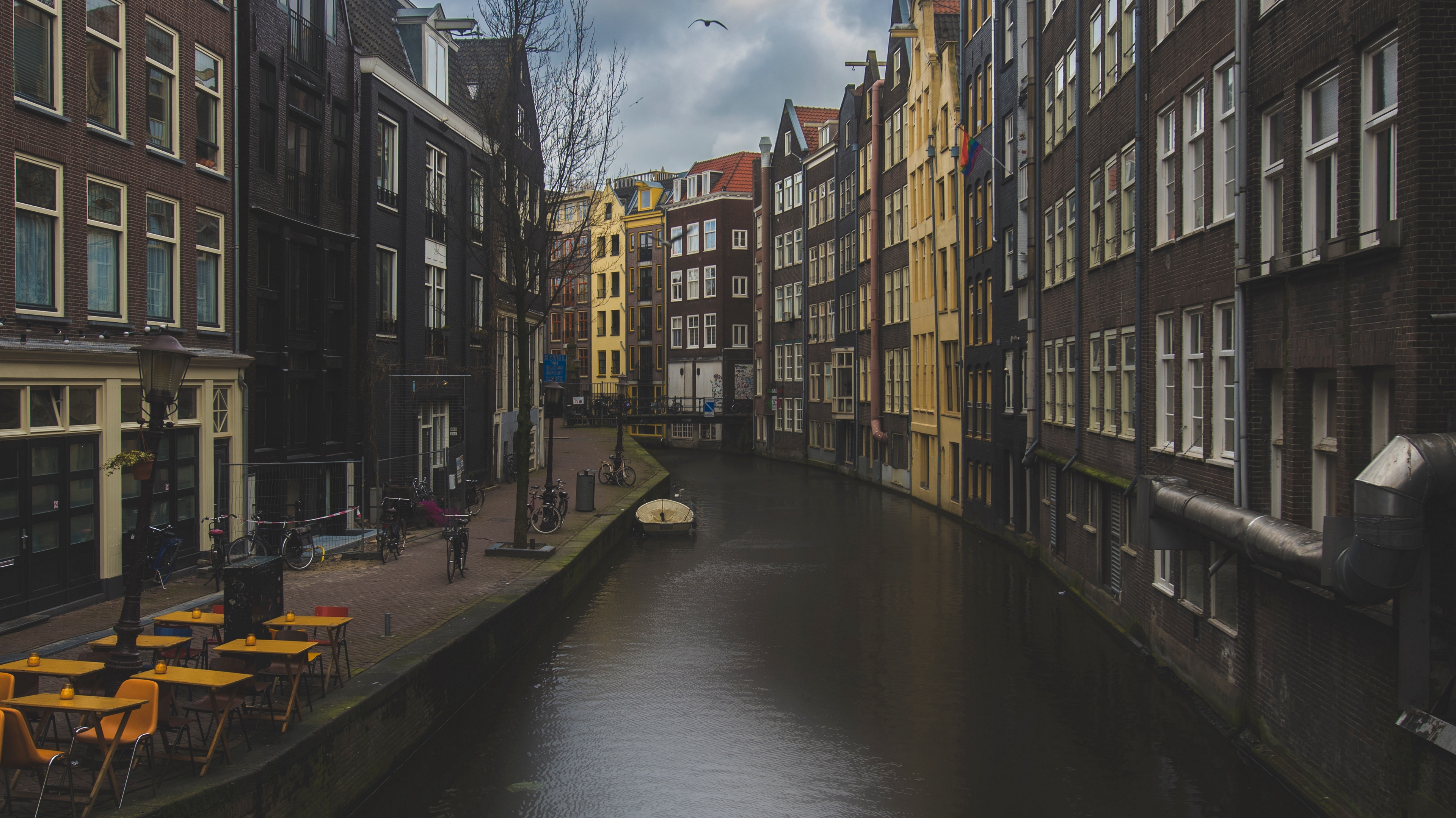 canal buildings architecture amsterdam netherlands 4k 1538066677 - canal, buildings, architecture, amsterdam, netherlands 4k - Canal, buildings, Architecture