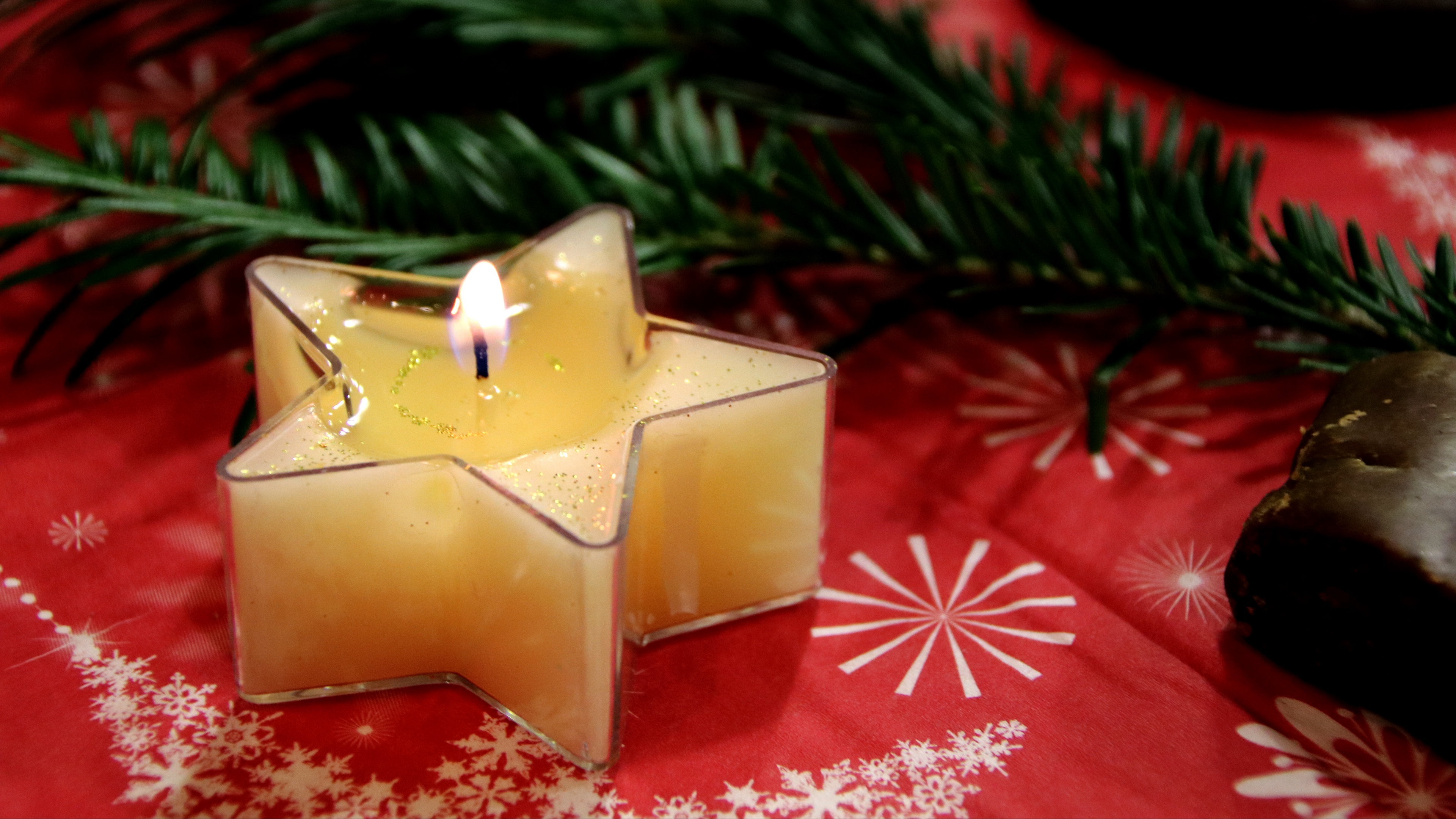 candle star christmas branch 4k 1538344680 - candle, star, christmas, branch 4k - Star, Christmas, candle