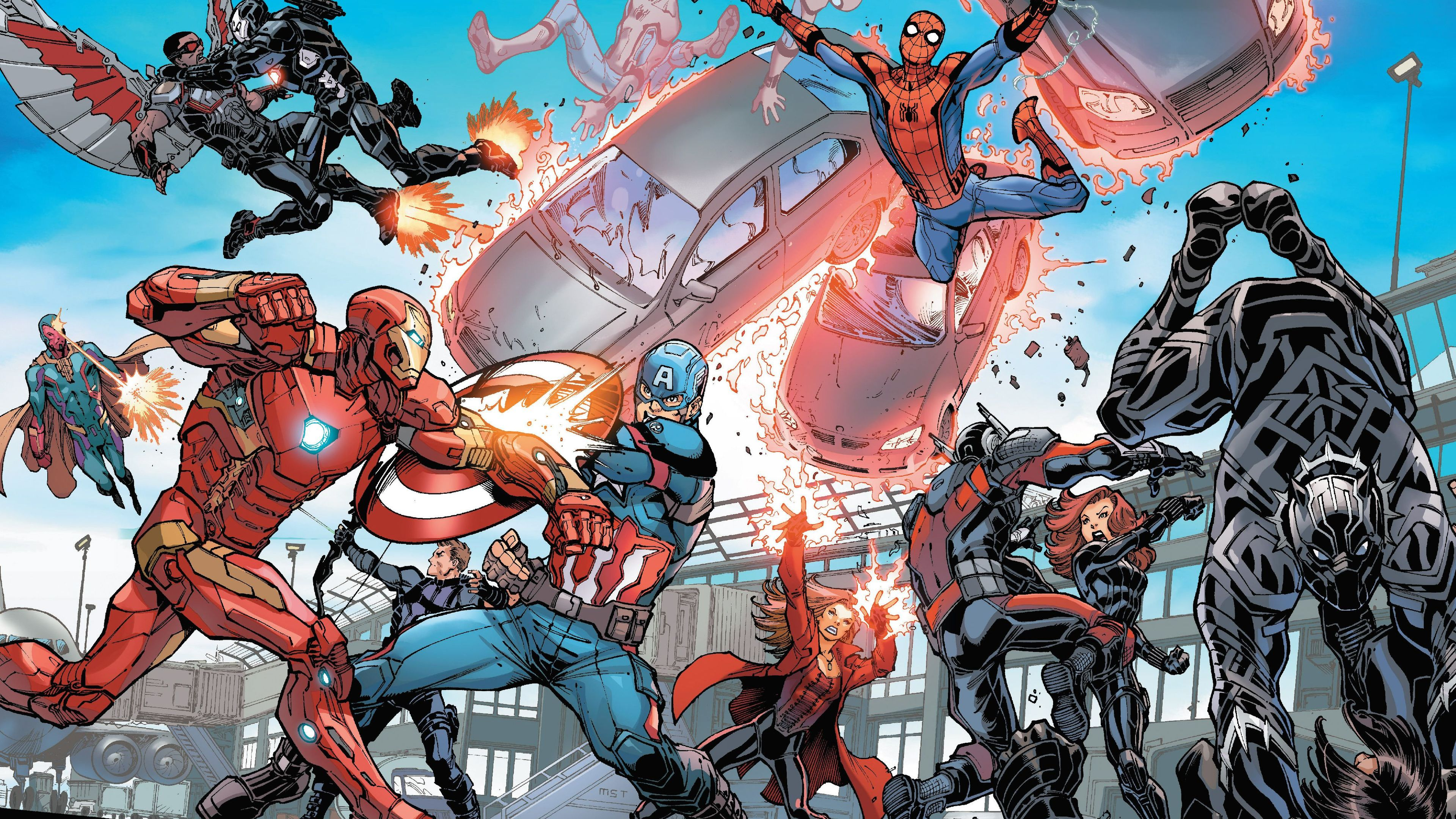 captain america civil war artwork 4k 1537645887 - Captain America Civil War Artwork 4k - war machine wallpapers, vision wallpapers, superheroes wallpapers, spiderman wallpapers, scarlet witch wallpapers, iron man wallpapers, hd-wallpapers, hawkeye wallpapers, falcon wallpapers, captain america wallpapers, black widow wallpapers, black panther wallpapers, artwork wallpapers, 4k-wallpapers