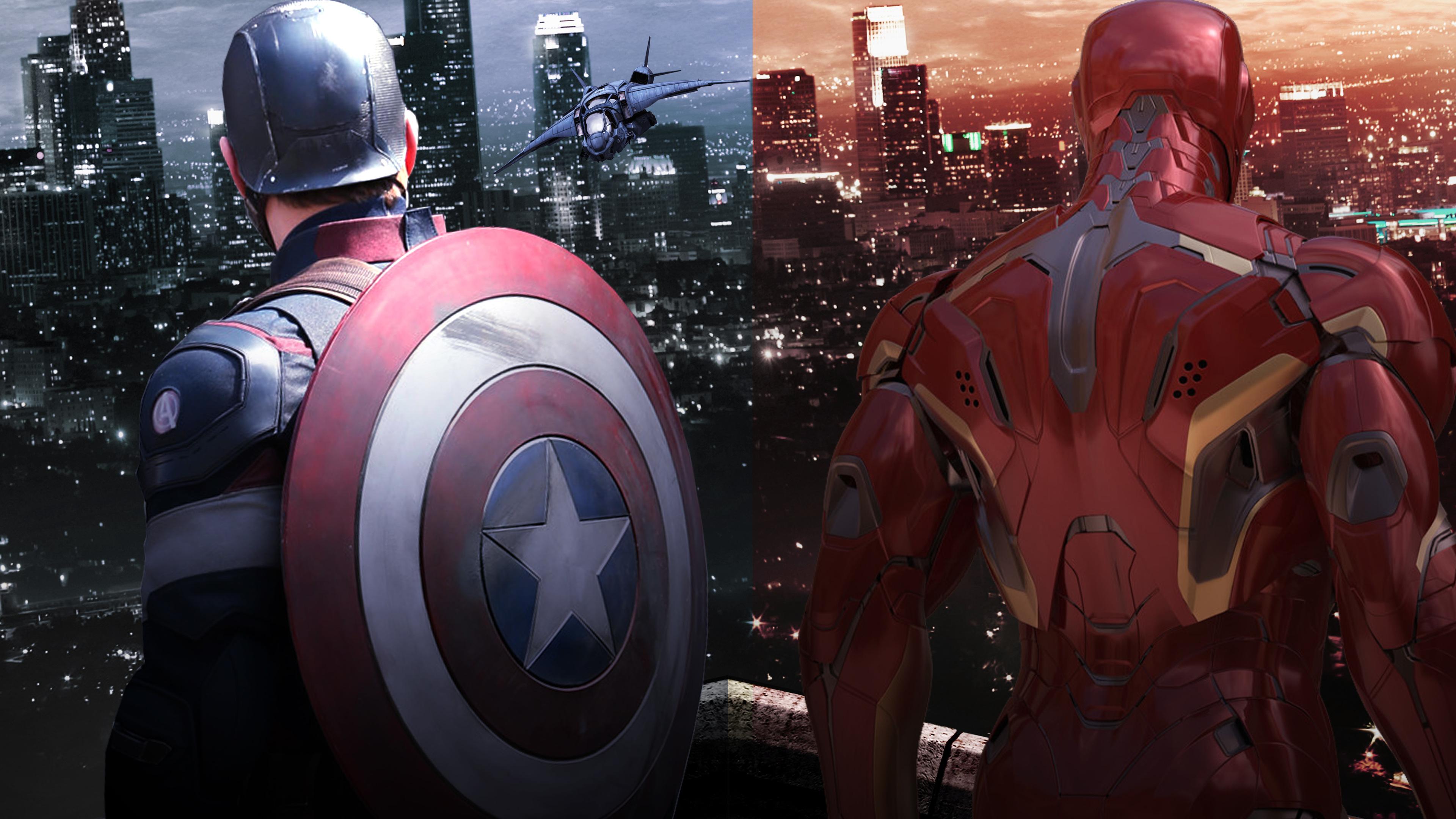 captain america shield and iron man 1536521551 - Captain America Shield And Iron Man - superheroes wallpapers, shield wallpapers, iron man wallpapers, hd-wallpapers, captain america wallpapers, artwork wallpapers, artist wallpapers, 4k-wallpapers