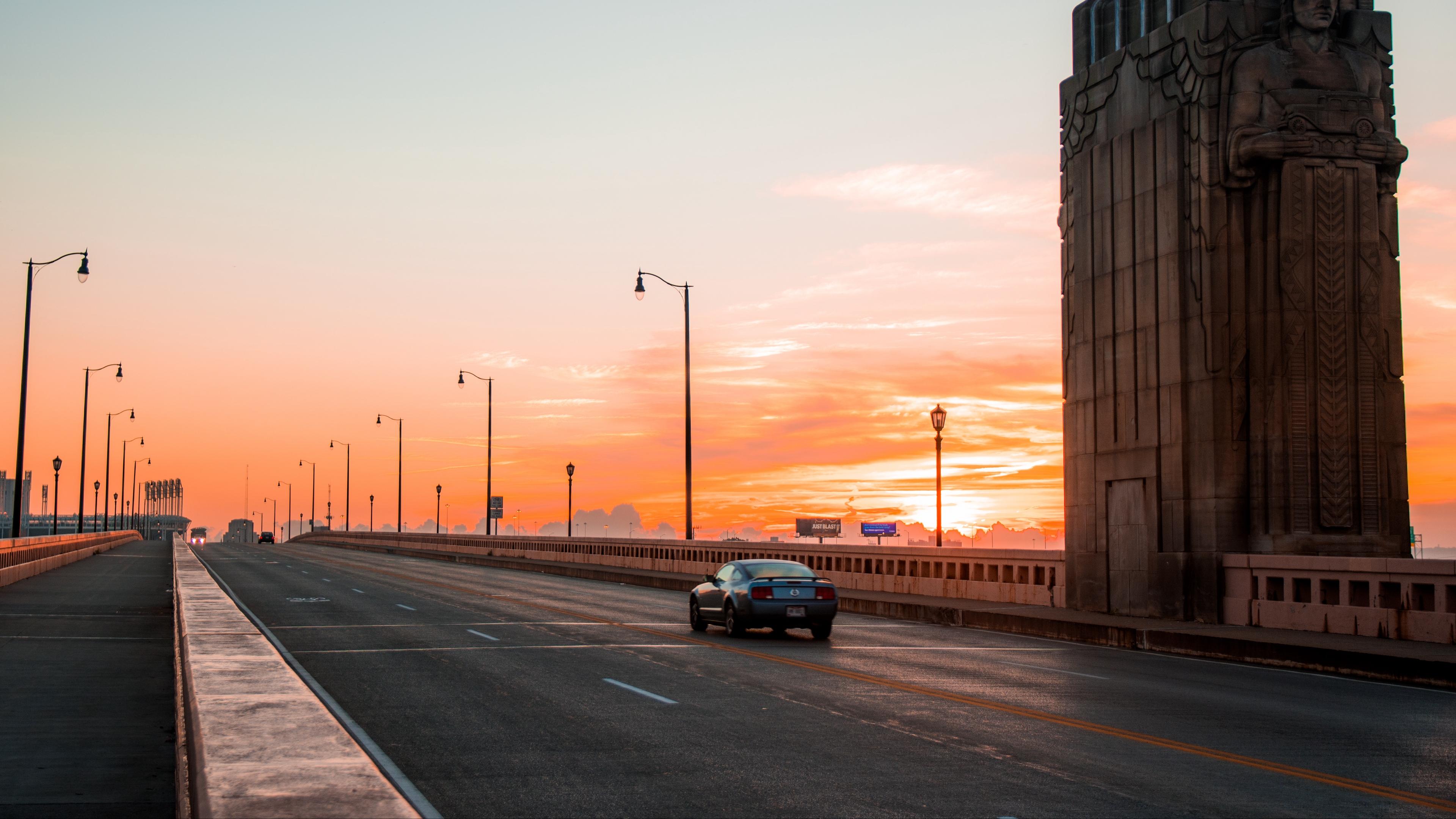 car traffic bridge sunset cleveland ohio united states 4k 1538067572 - car, traffic, bridge, sunset, cleveland, ohio, united states 4k - Traffic, Car, bridge