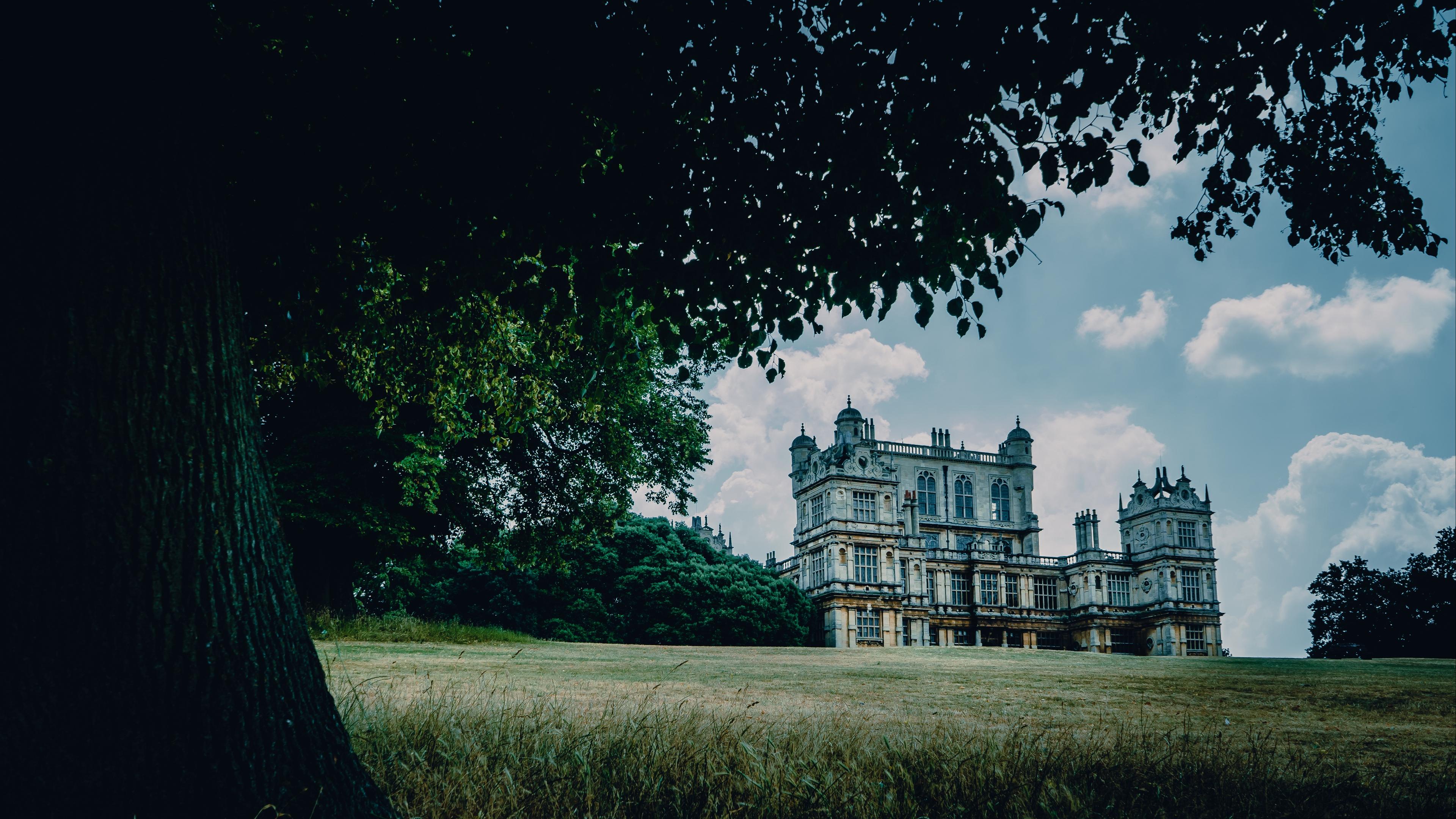 castle palace manor nottingham park house grass tree 4k 1538068179 - castle, palace, manor, nottingham, park, house, grass, tree 4k - Palace, Manor, Castle