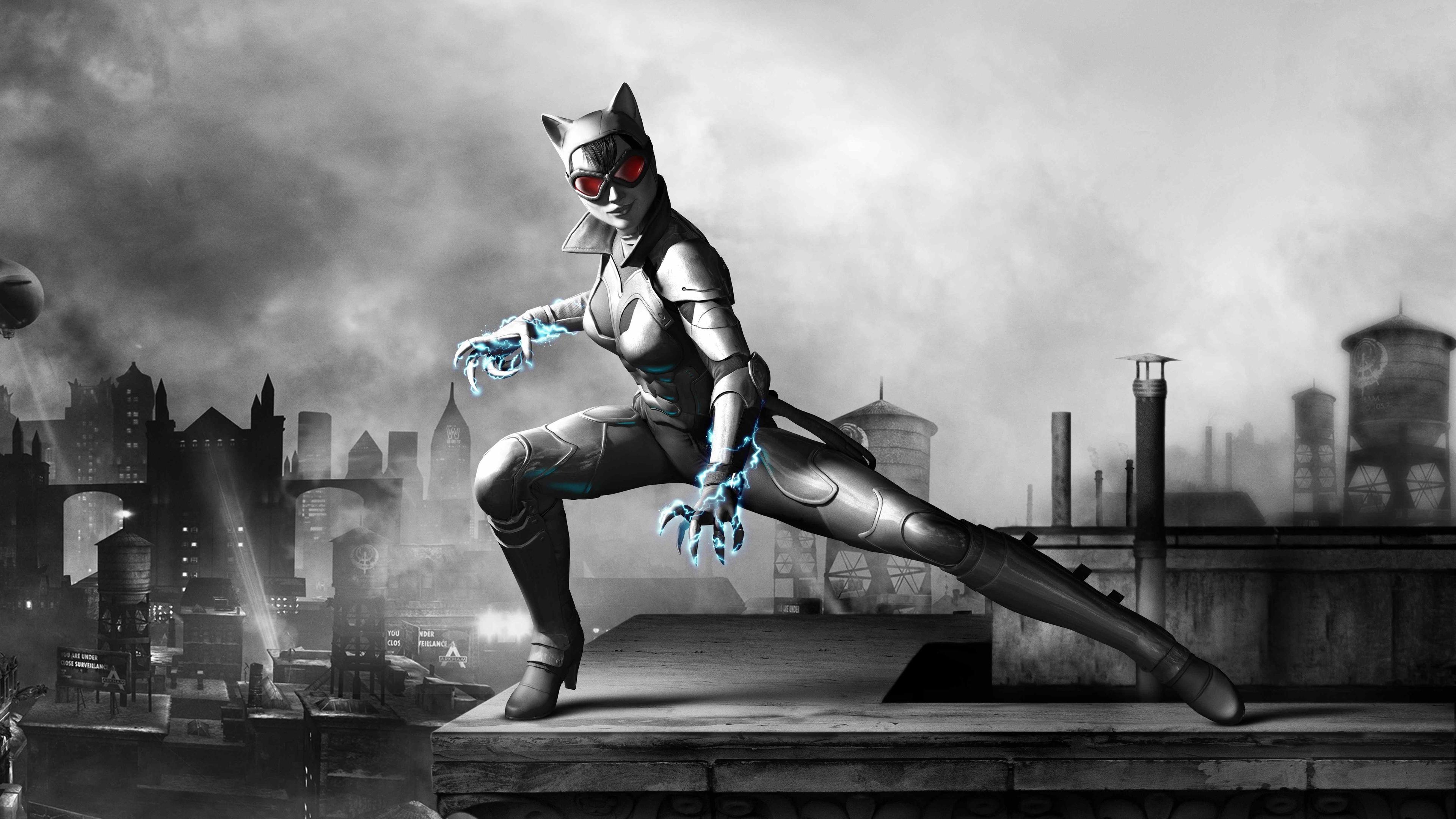 Wallpaper 4k Catwoman Batman Arkham Wallpapers 5k