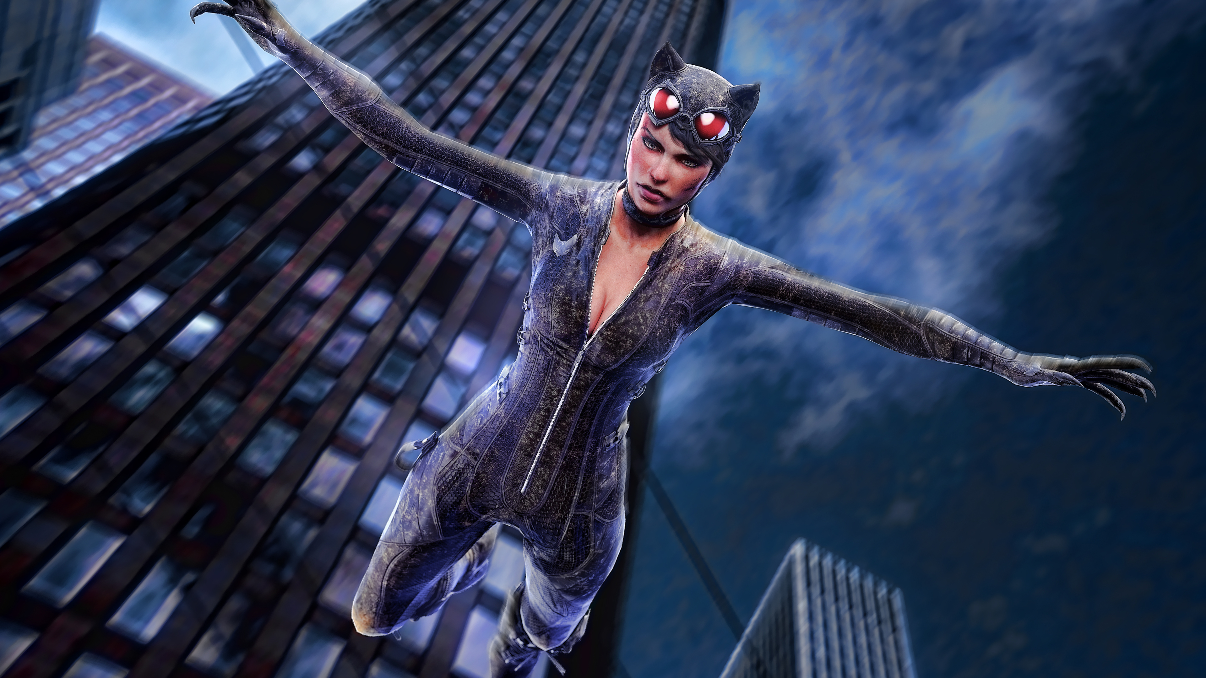 catwoman jumping out of building artwork 4k 1537646007 - Catwoman Jumping Out Of Building Artwork 4k - supervillain wallpapers, superheroes wallpapers, hd-wallpapers, deviantart wallpapers, catwoman wallpapers, artwork wallpapers, artist wallpapers, 4k-wallpapers
