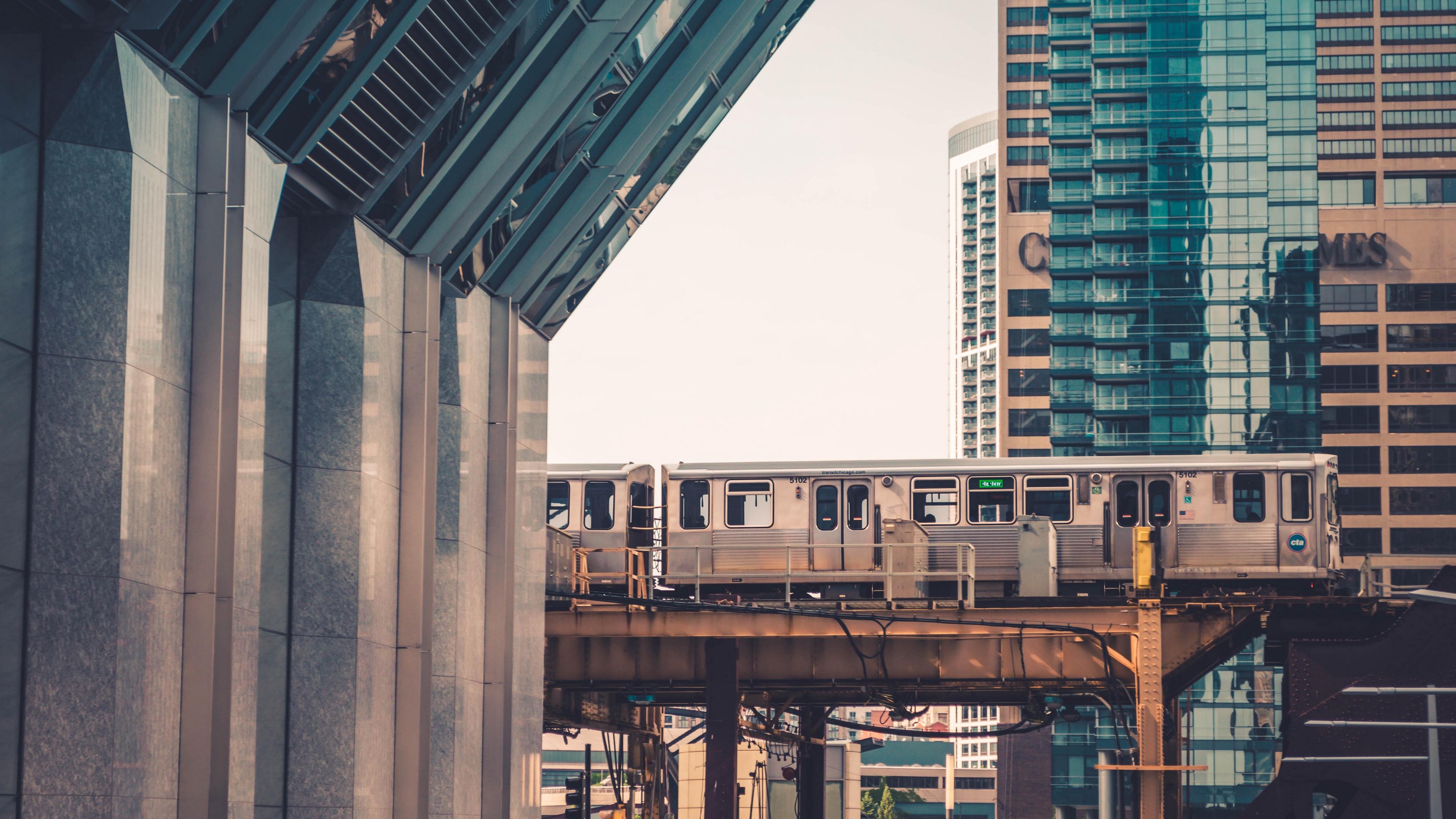 chicago usa train city buildings 4k 1538065060 - chicago, usa, train, city, buildings 4k - USA, Train, Chicago