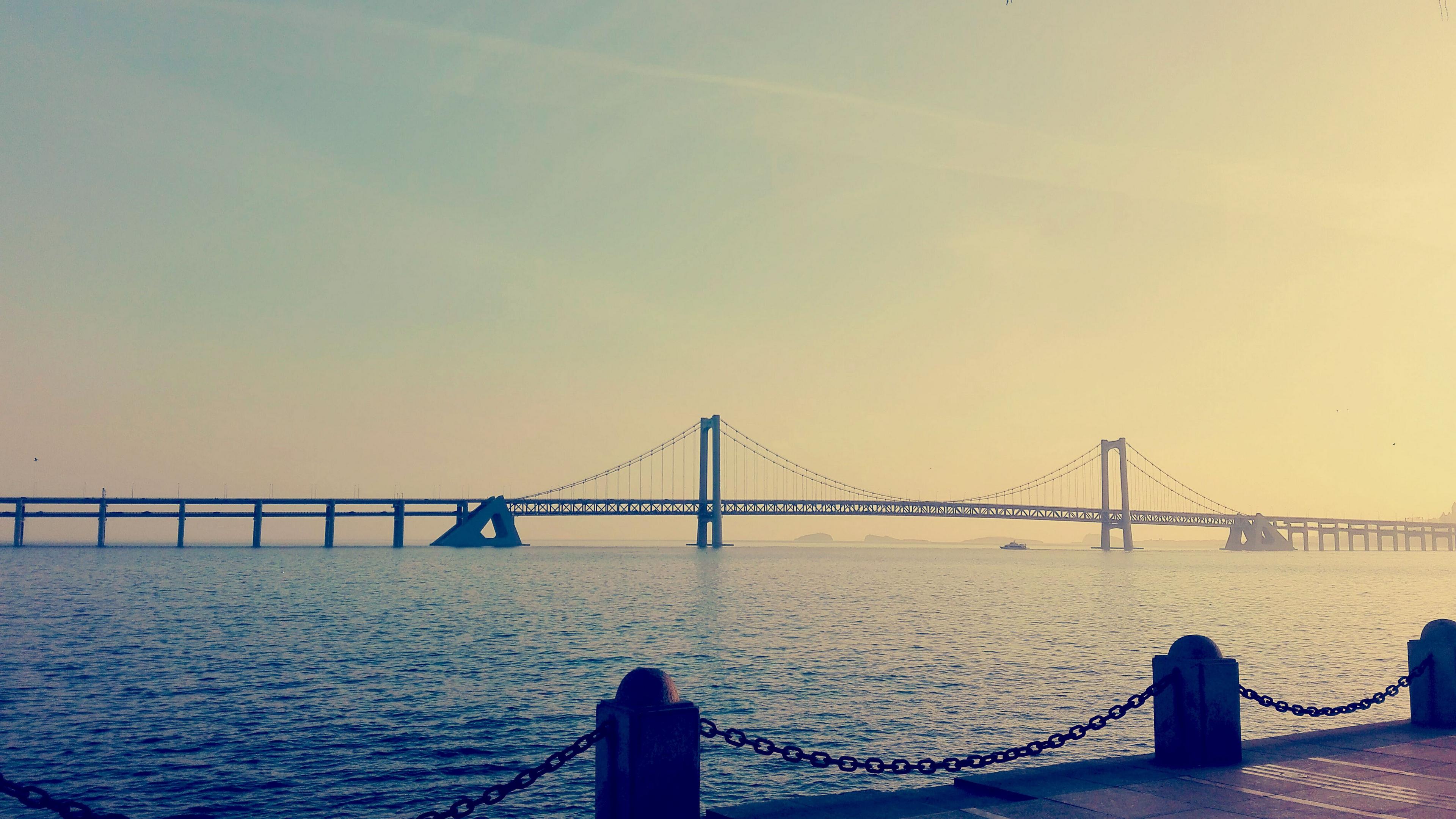 china dalian bridge bay sea 4k 1538064953 - china, dalian, bridge, bay, sea 4k - Dalian, China, bridge