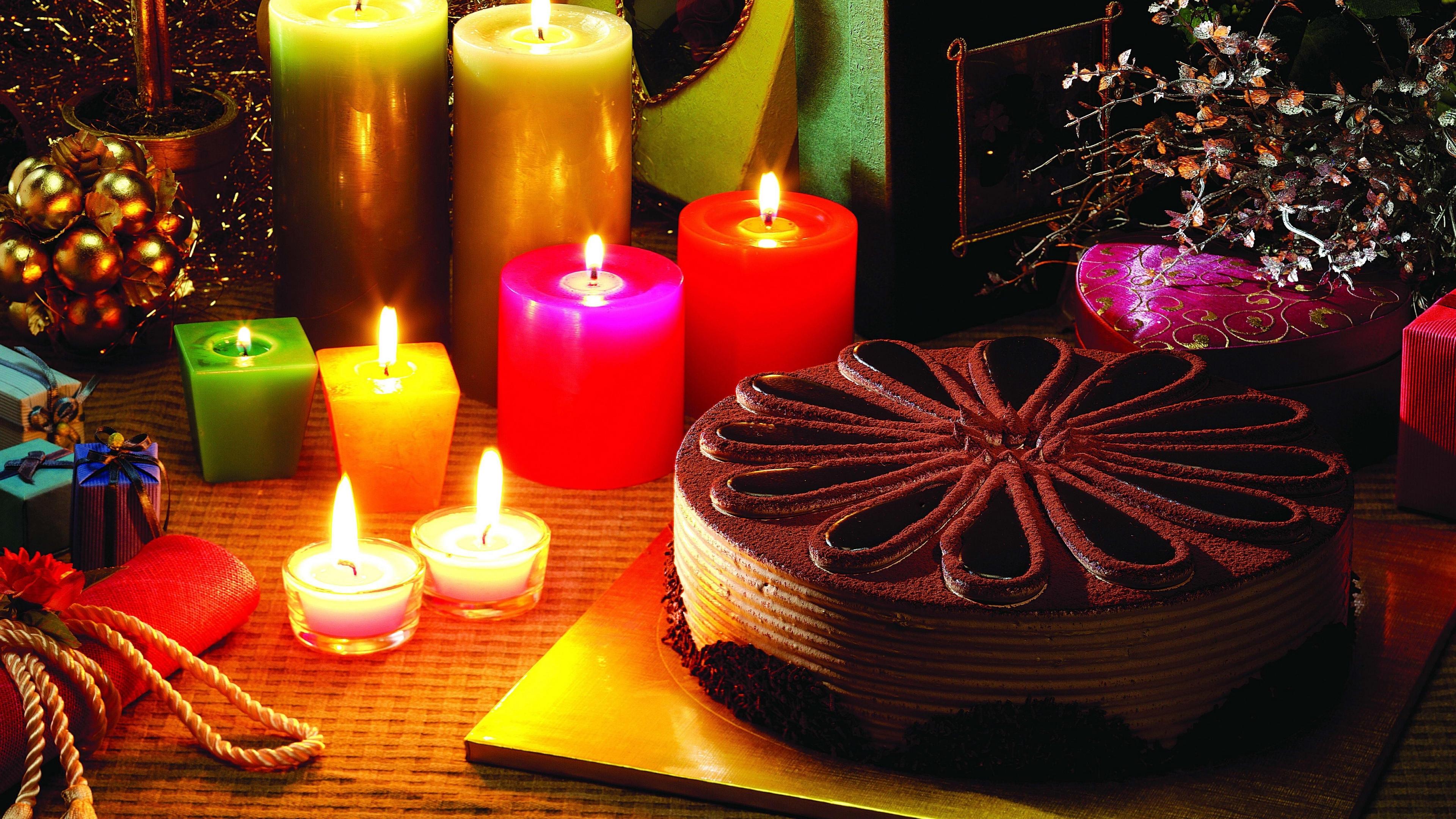 christmas candles cake presents reindeer holiday 4k 1538345080 - christmas candles, cake, presents, reindeer, holiday 4k - presents, christmas candles, cake