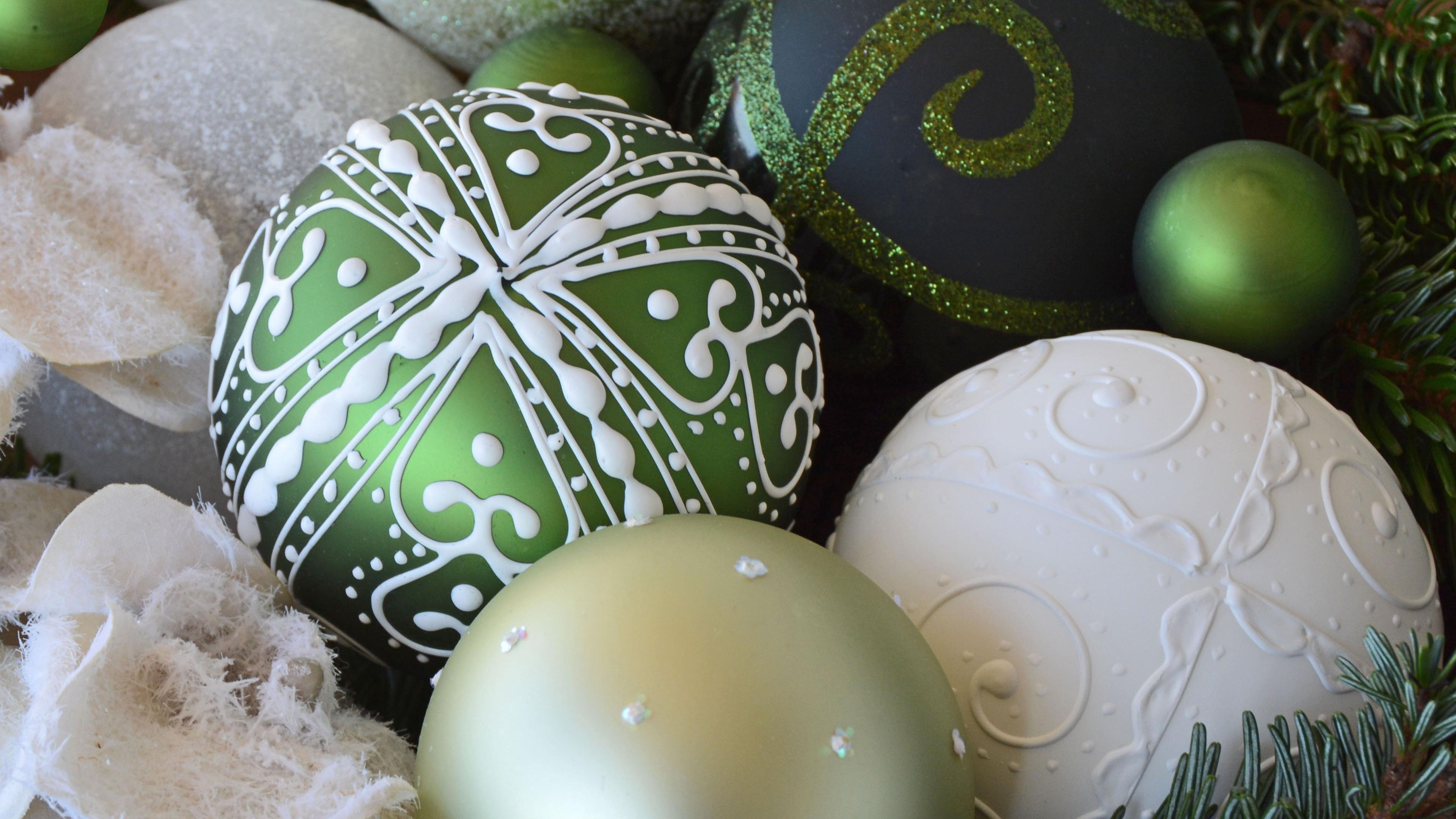 christmas decorations christmas balls new year 4k 1538345187 - christmas decorations, christmas balls, new year 4k - new year, christmas decorations, christmas balls