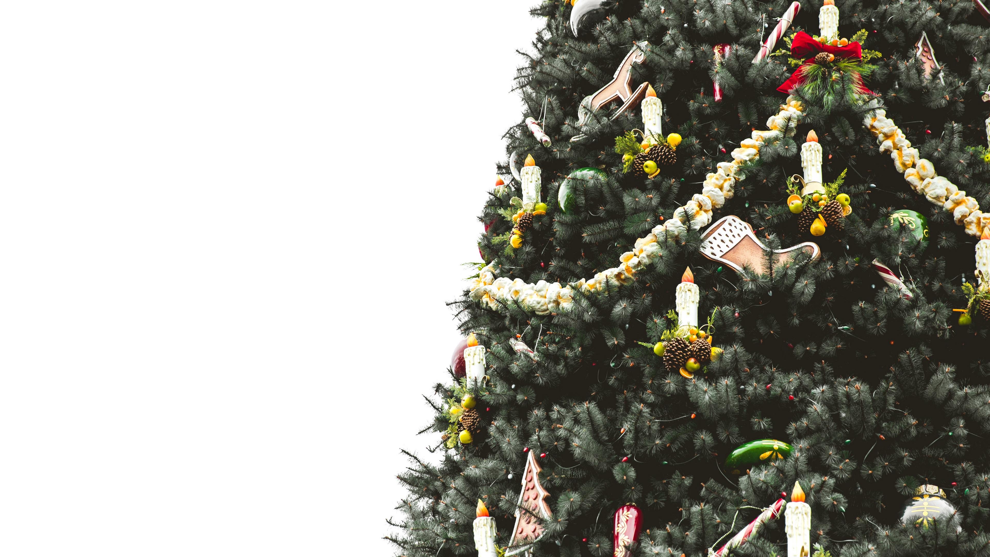 christmas tree ornaments candles 4k 1538344672 - christmas tree, ornaments, candles 4k - ornaments, christmas tree, Candles