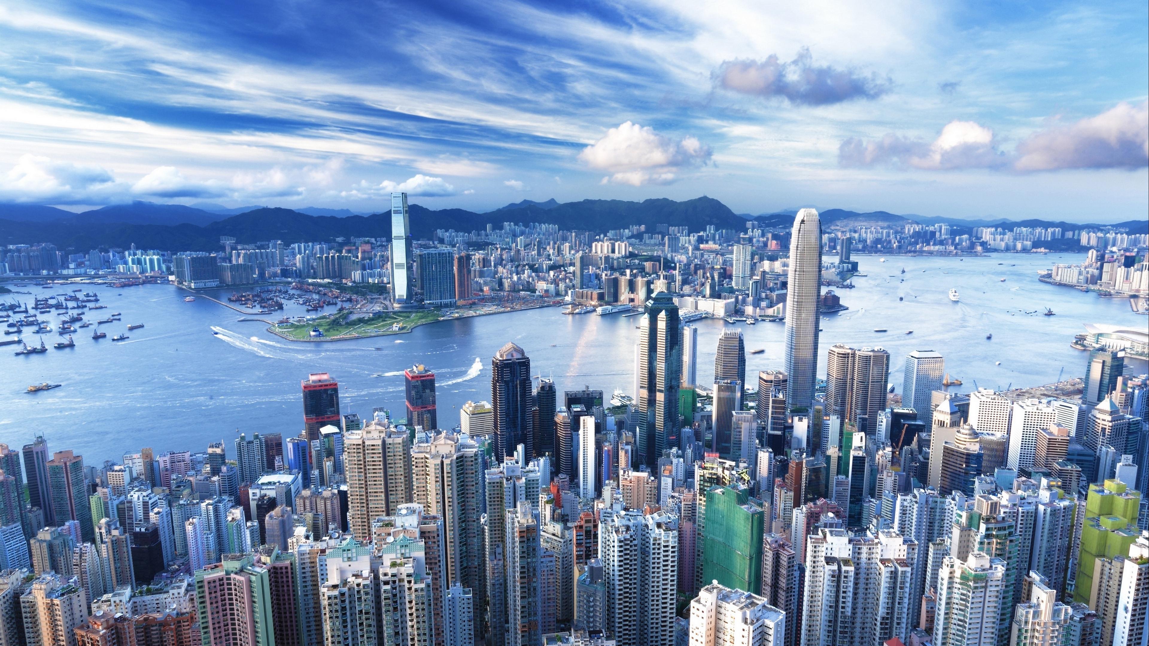 city buildings sky water 4k 1538068753 - city, buildings, sky, water 4k - Sky, City, buildings