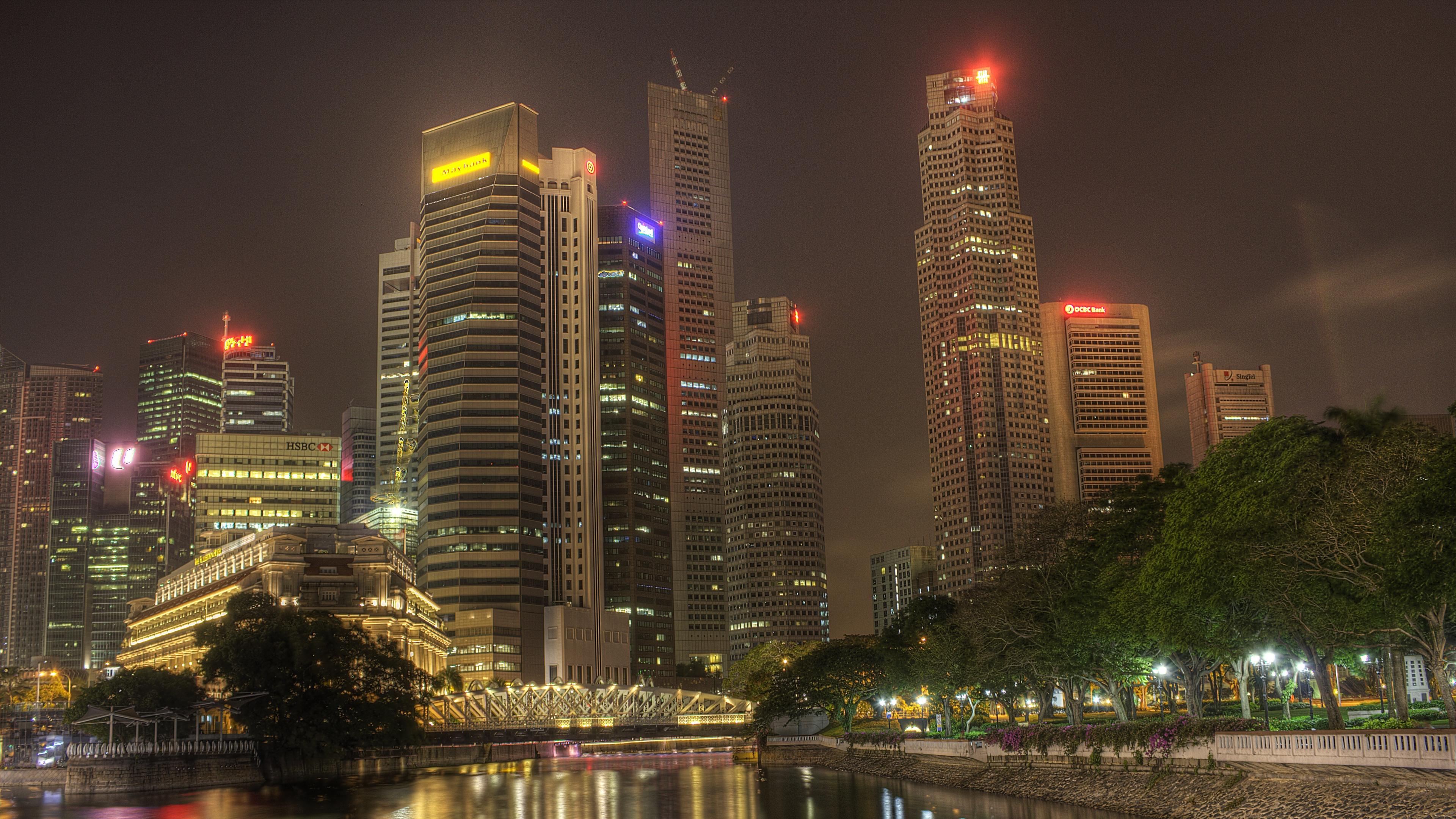 city night lights 4k 1538066351 - city, night, lights 4k - Night, Lights, City