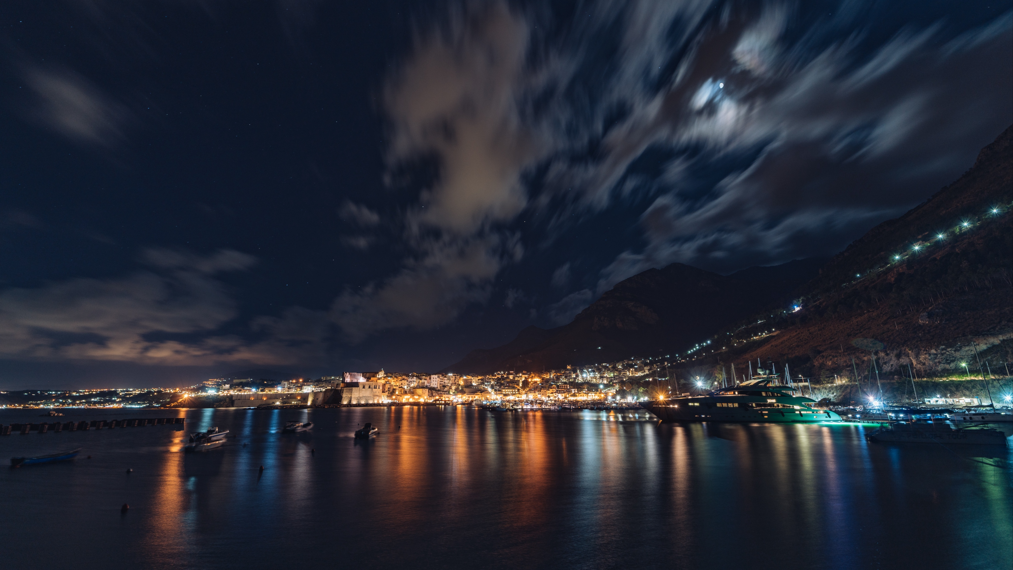city night panorama 4k 1538065297 - city, night, panorama 4k - Panorama, Night, City