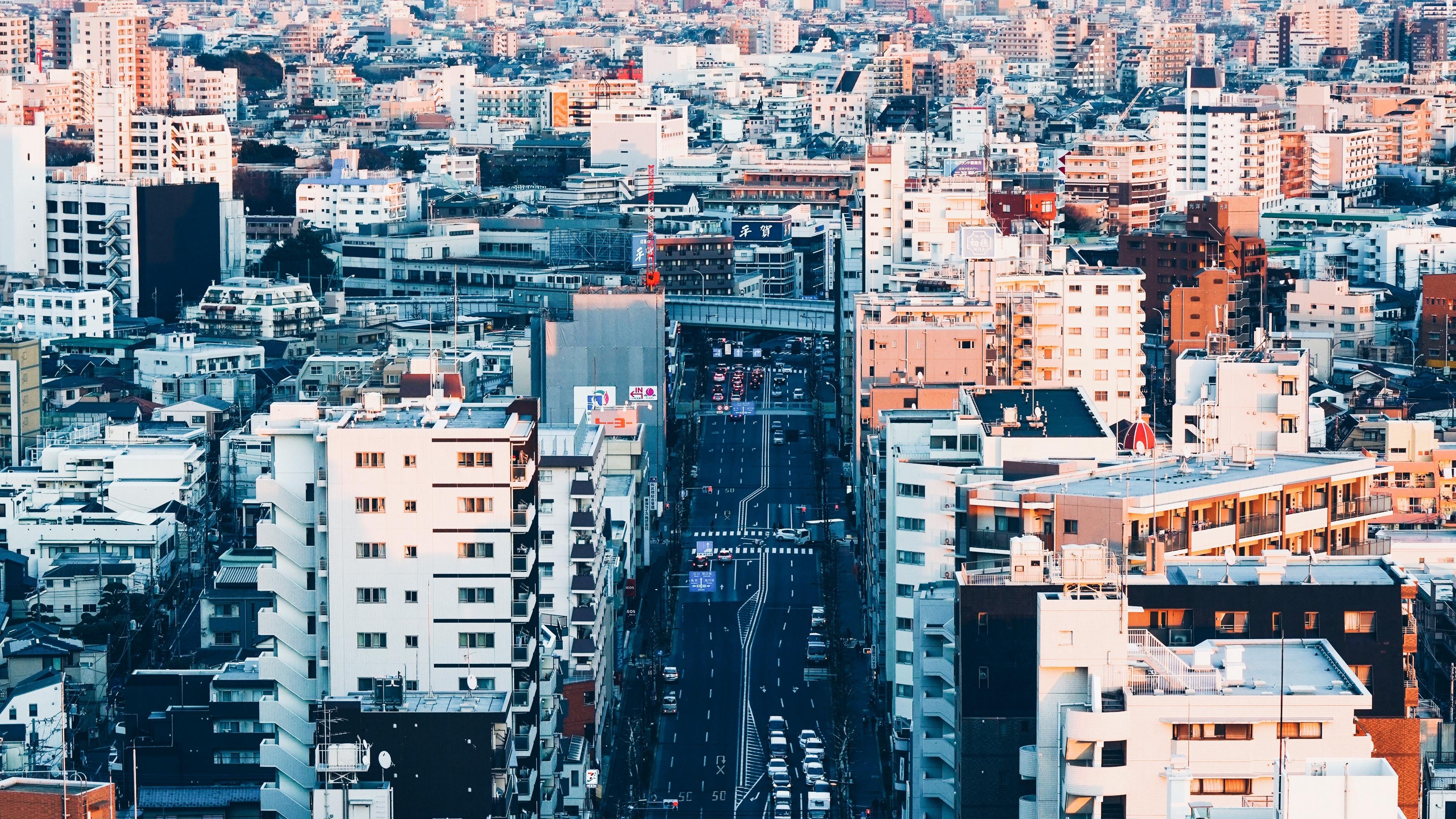 city street road buildings tokyo 4k 1538066212 - city, street, road, buildings, tokyo 4k - Street, Road, City