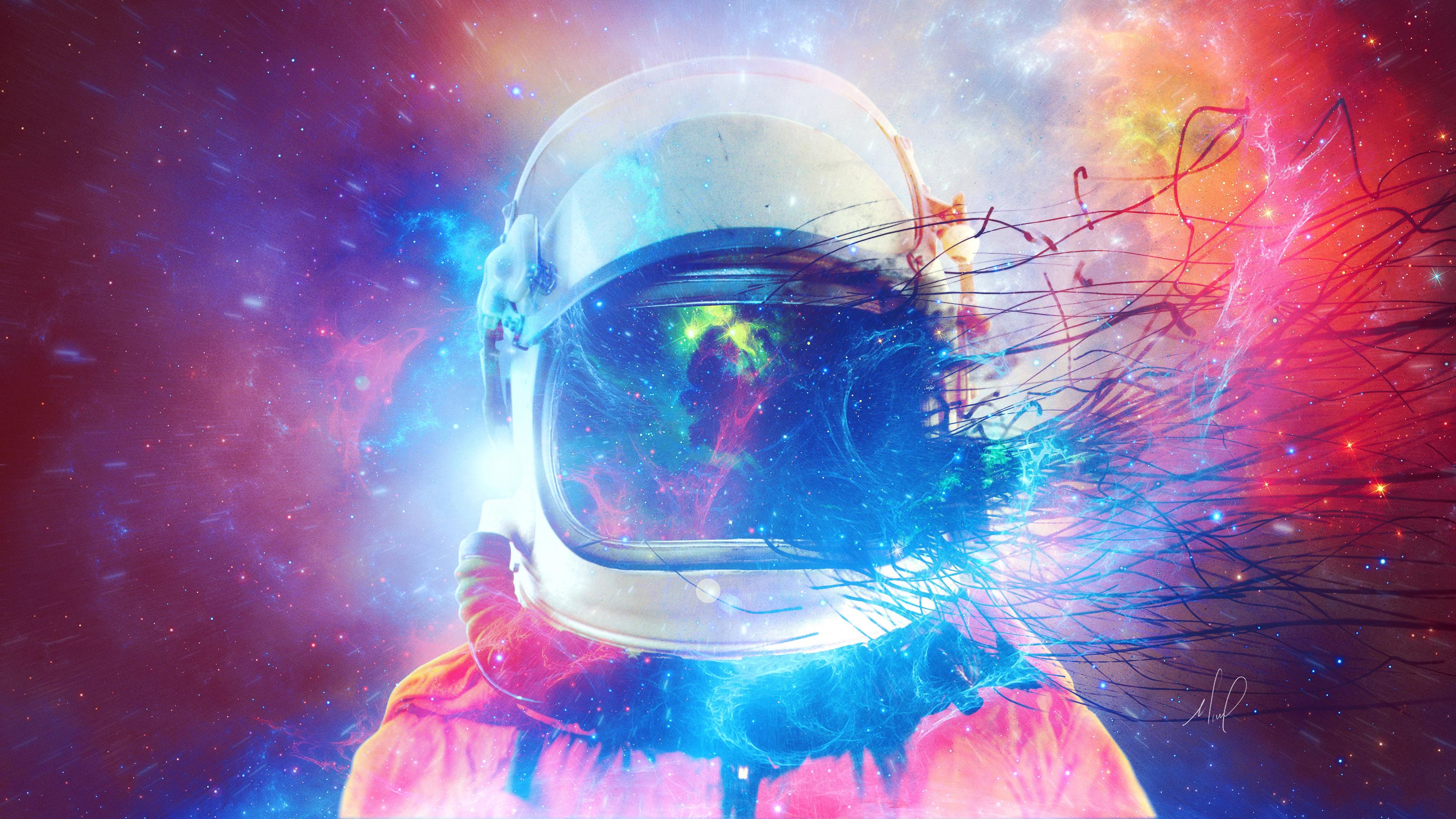 cosmonaut space suit multicolored space 4k 1536016994 - cosmonaut, space suit, multicolored, space 4k - space suit, multicolored, cosmonaut