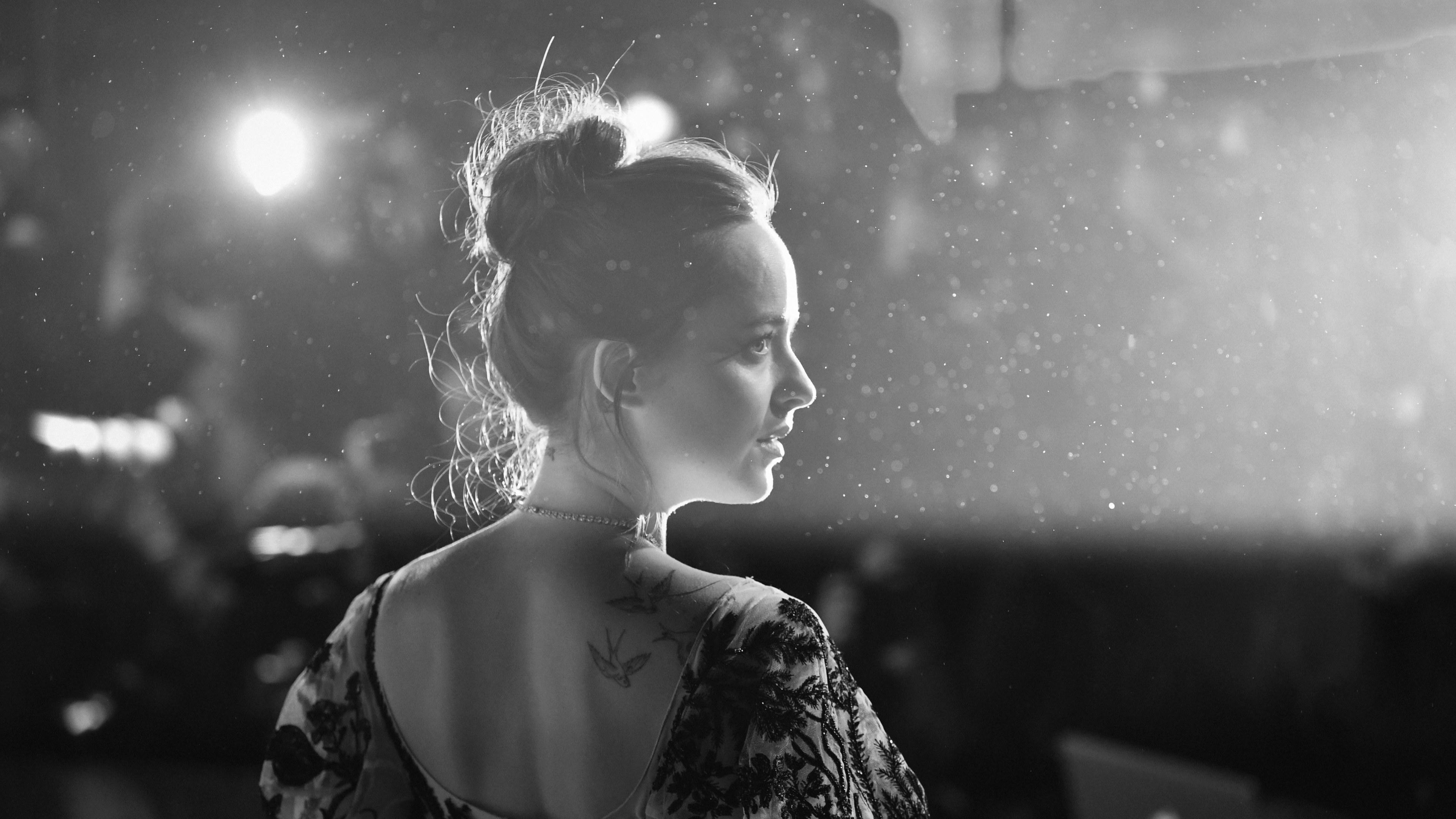 dakota johnson black and white 5k 1536862117 - Dakota Johnson Black And White 5k - monochrome wallpapers, hd-wallpapers, girls wallpapers, dakota johnson wallpapers, celebrities wallpapers, black and white wallpapers, 5k wallpapers, 4k-wallpapers