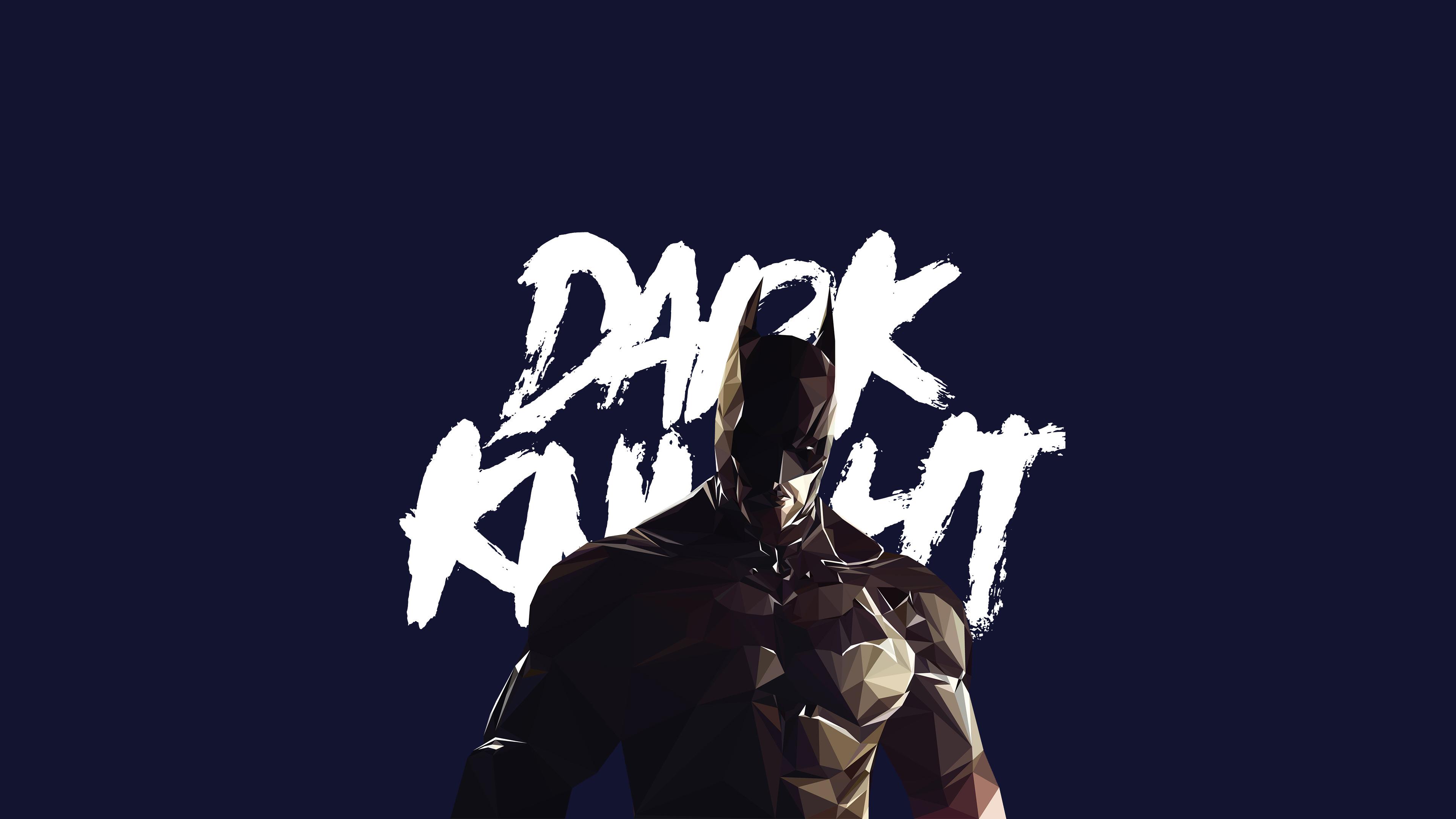 Wallpaper 4k Dark Knight Low Poly 4k Wallpapers Artist Wallpapers