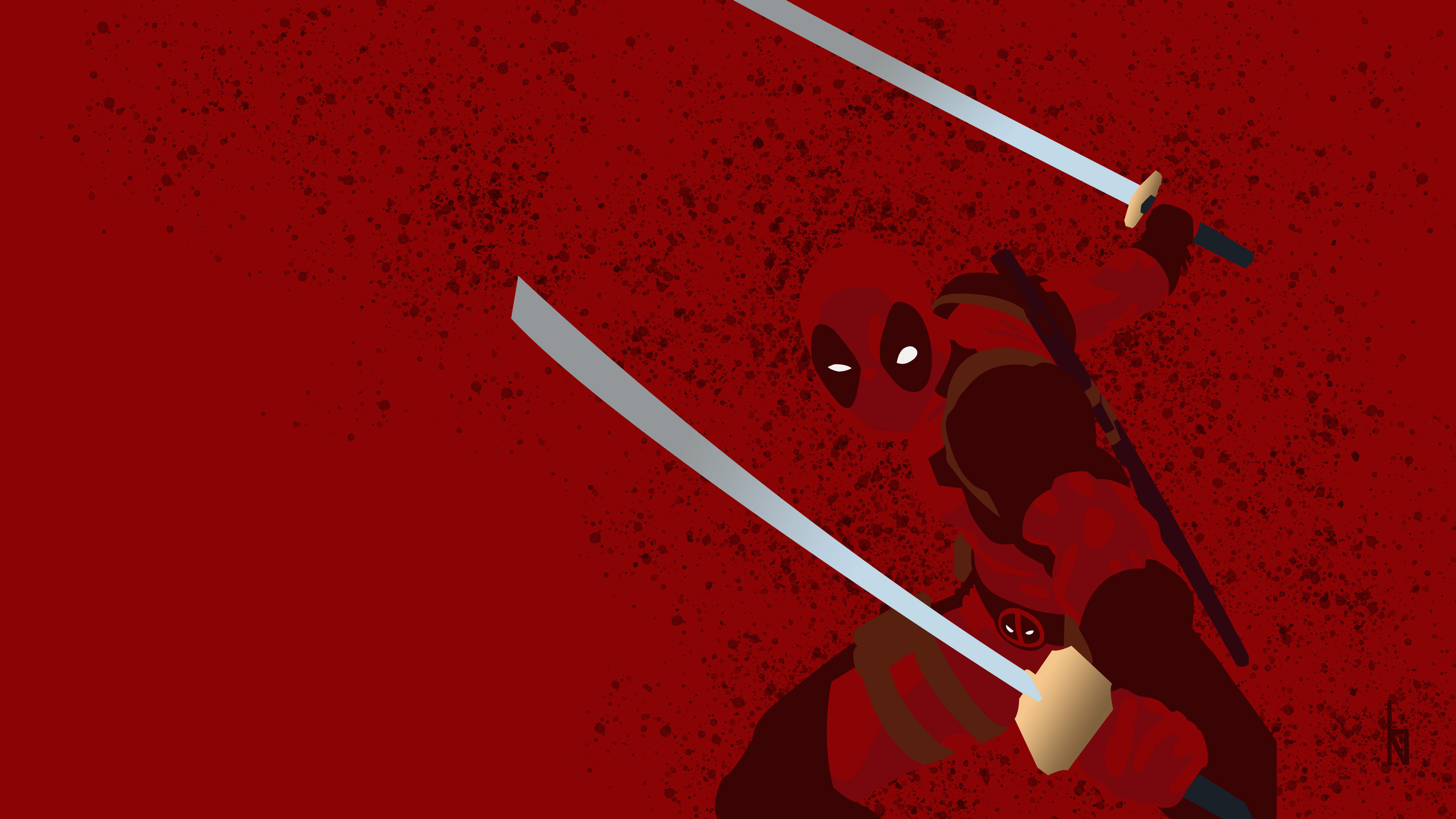 Wallpaper 4k Deadpool Minimalist Background 4k 4k Wallpapers Artist