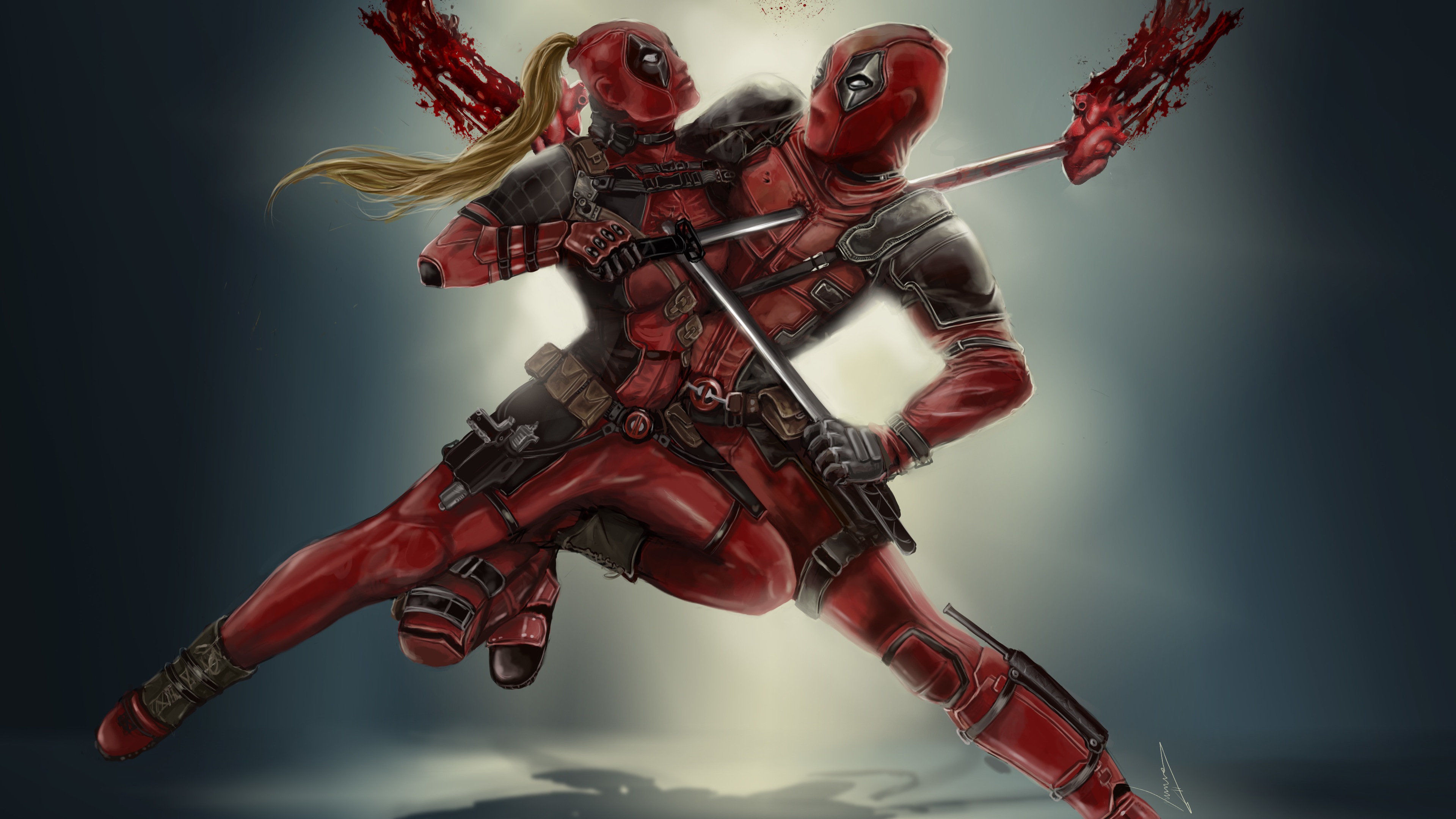 Wallpaper 4k Dedpool Vs Lady Deadpool 2018 Movies Wallpapers 4k